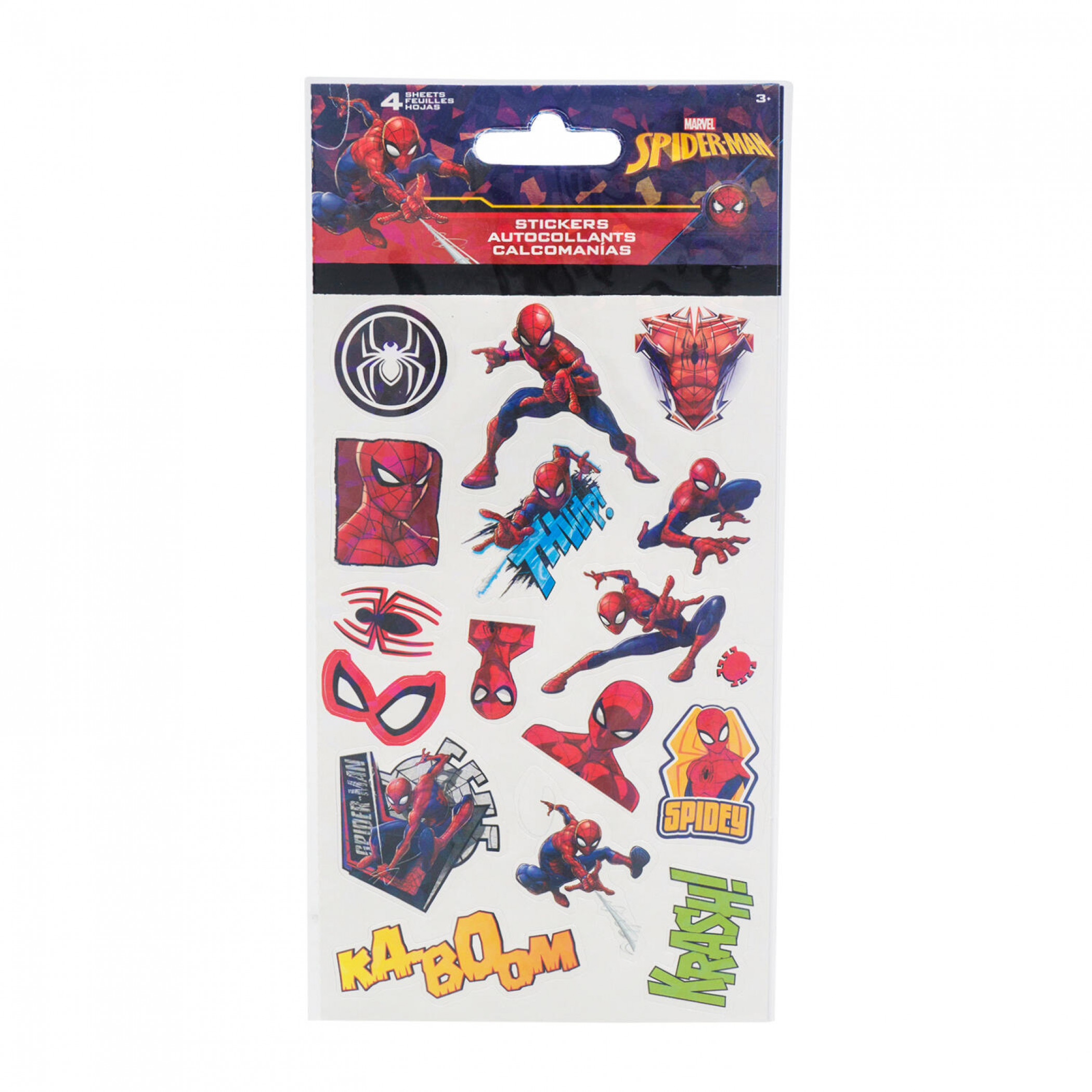 Spider-Man Character and Symbols Sticker Sheet 4-Pack