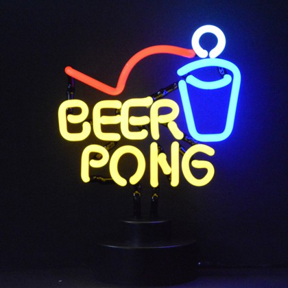 Beer Pong Neon Sign