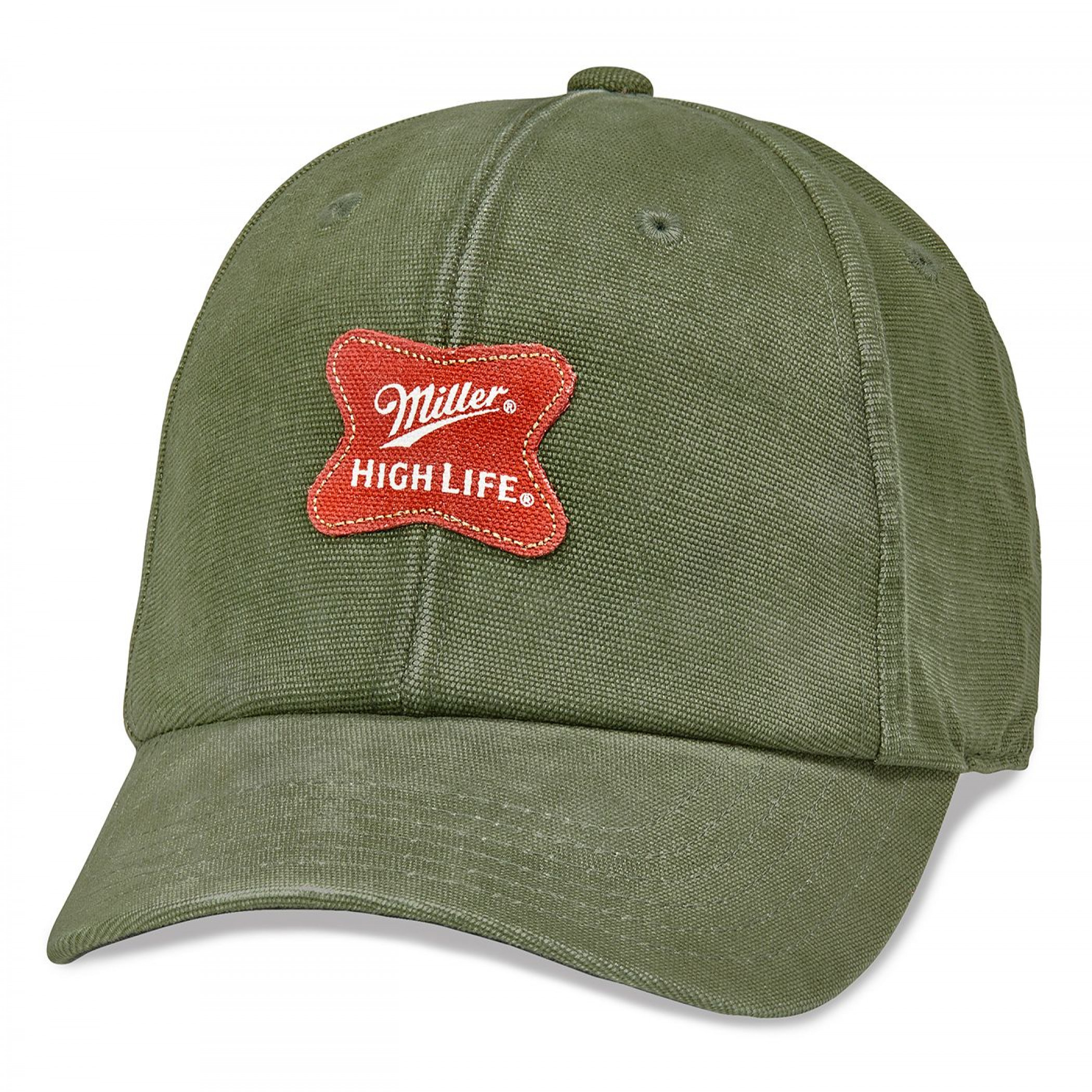 Miller High Life Patch Adjustable Army Green Dad Hat