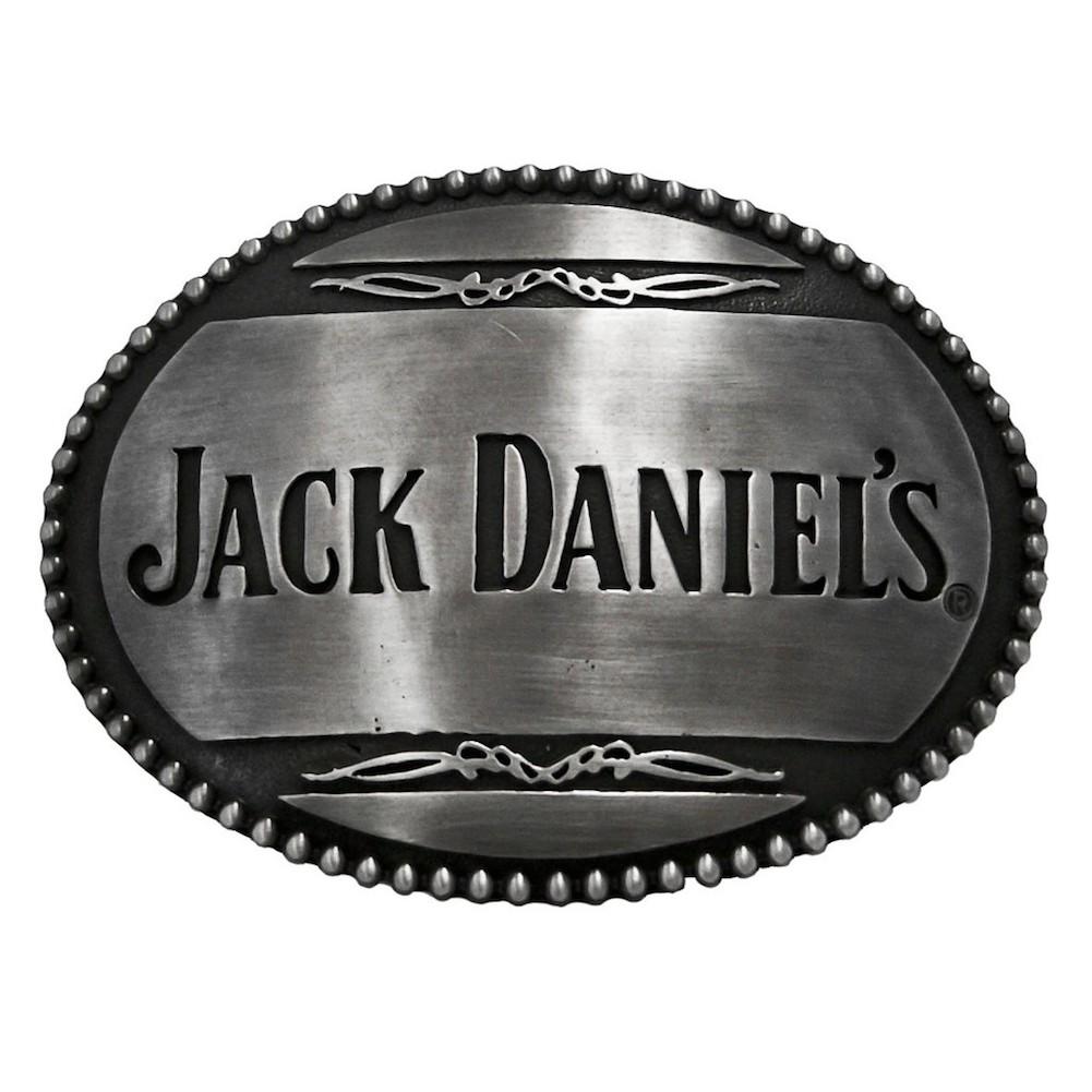 Jack Daniels Text Logo Belt Buckle
