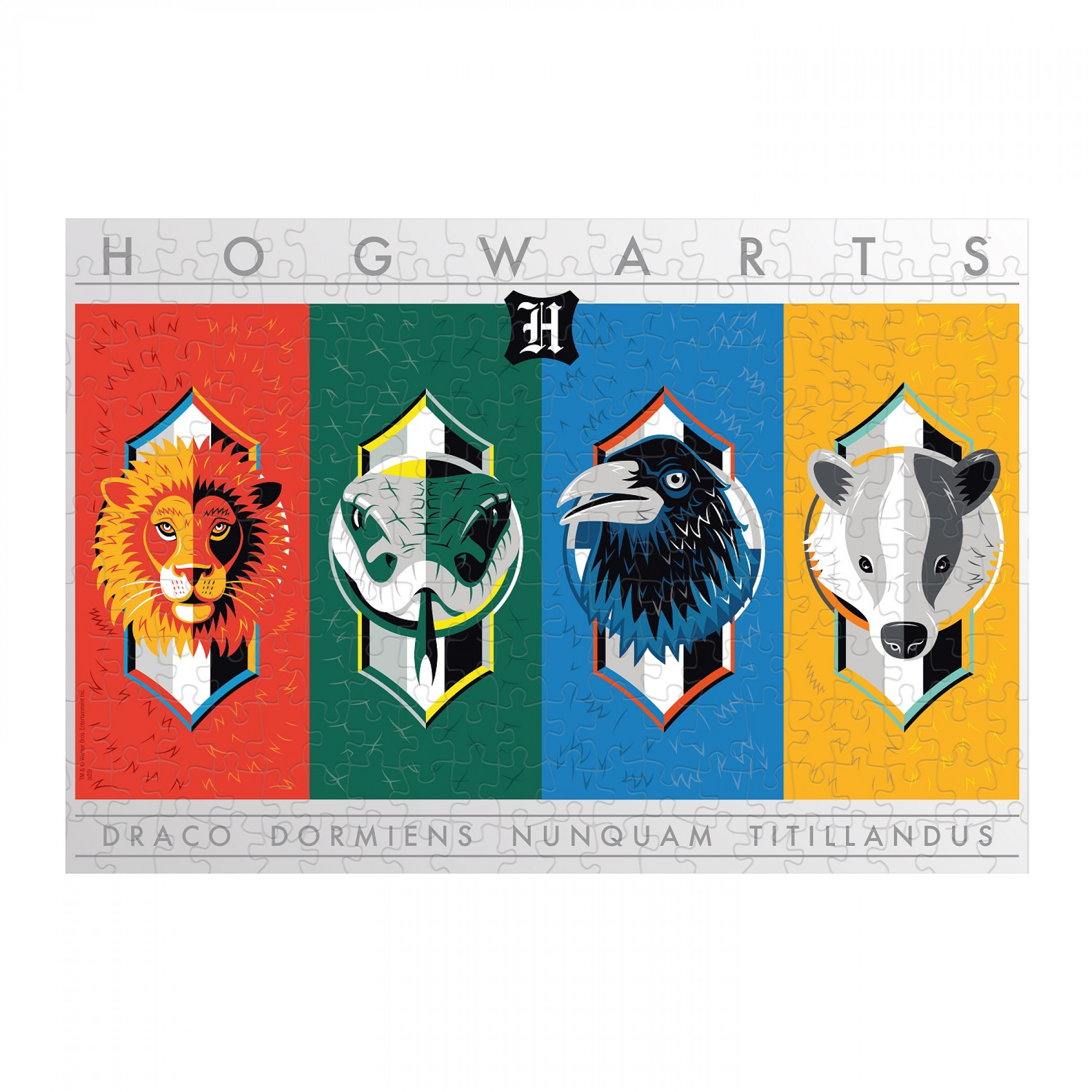 Harry Potter House Crests 500 Piece Puzzle