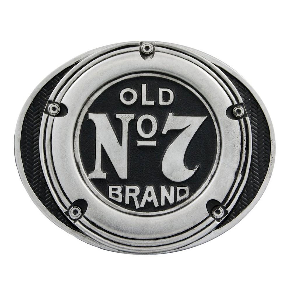 Jack Daniels Old No. 7 Round Logo Belt Buckle