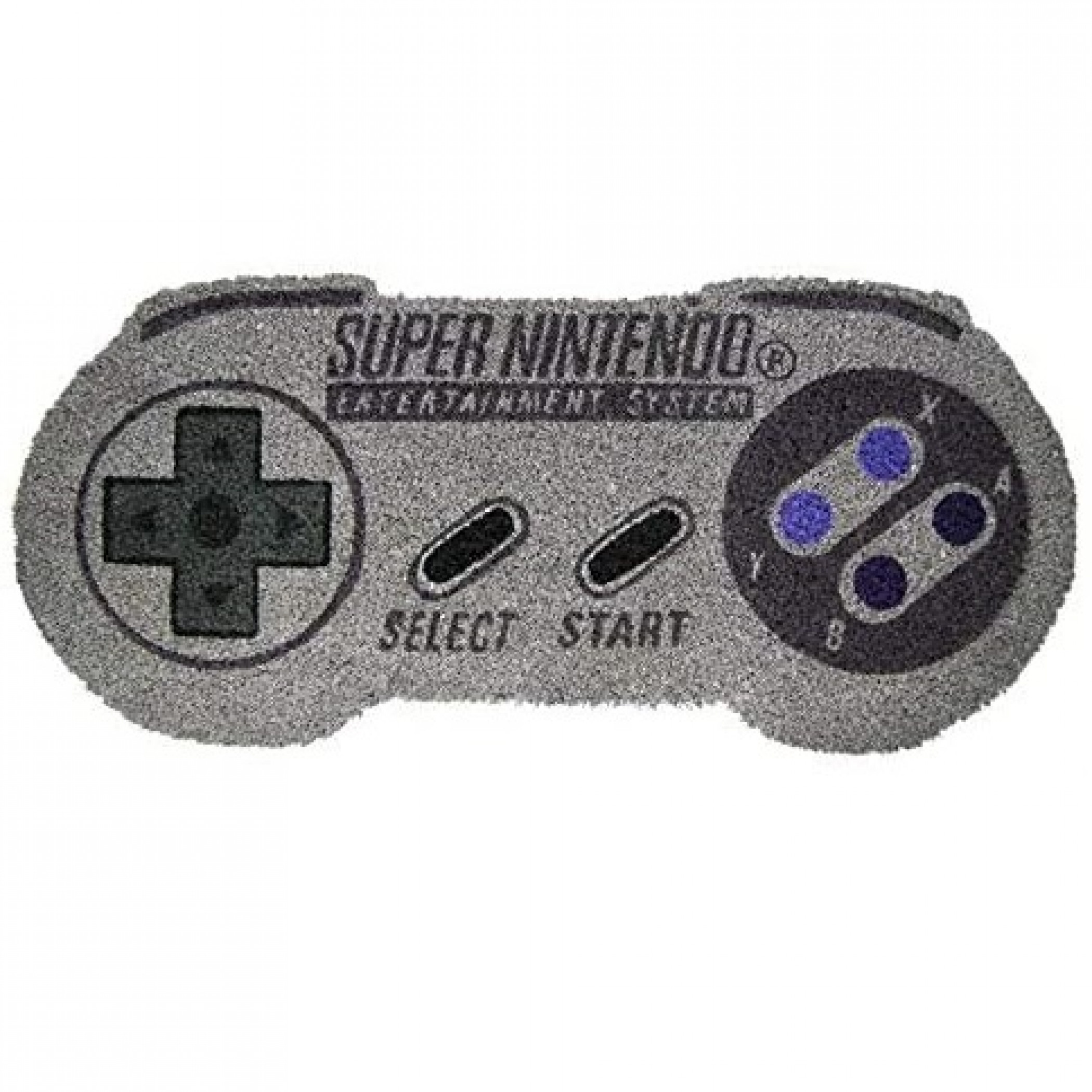 """Nintendo SNES Controller Shaped 17""""x 29"""" Doormat with Non-Skid Back"""