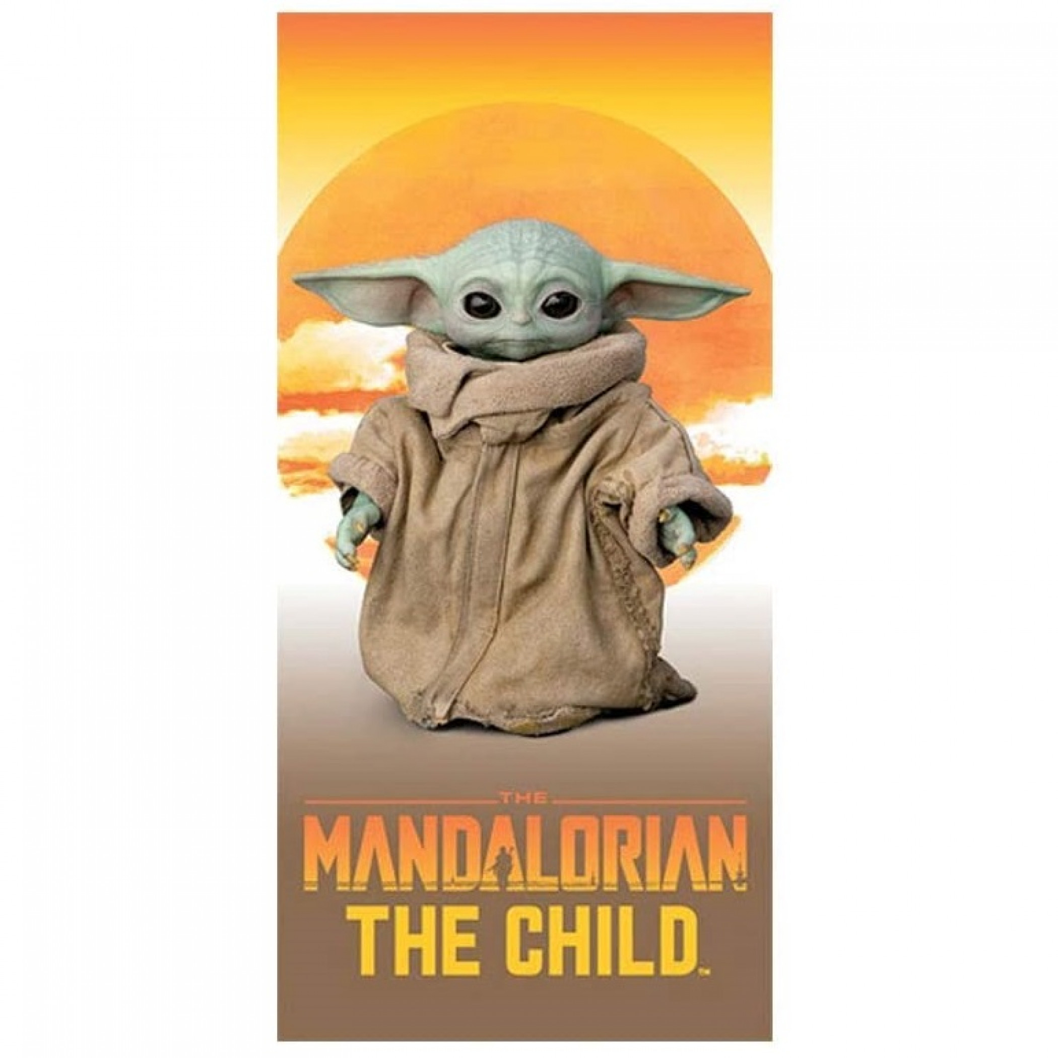 "Star Wars The Mandalorian the Sunset Child 28"" x 58"" Beach Towel"