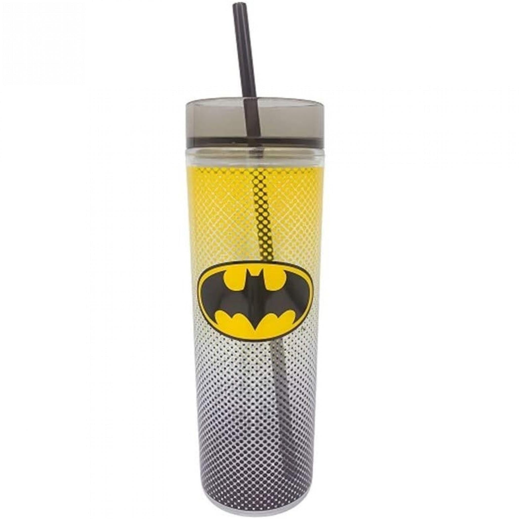 Batman Symbol Symbol Travel Mug with Straw