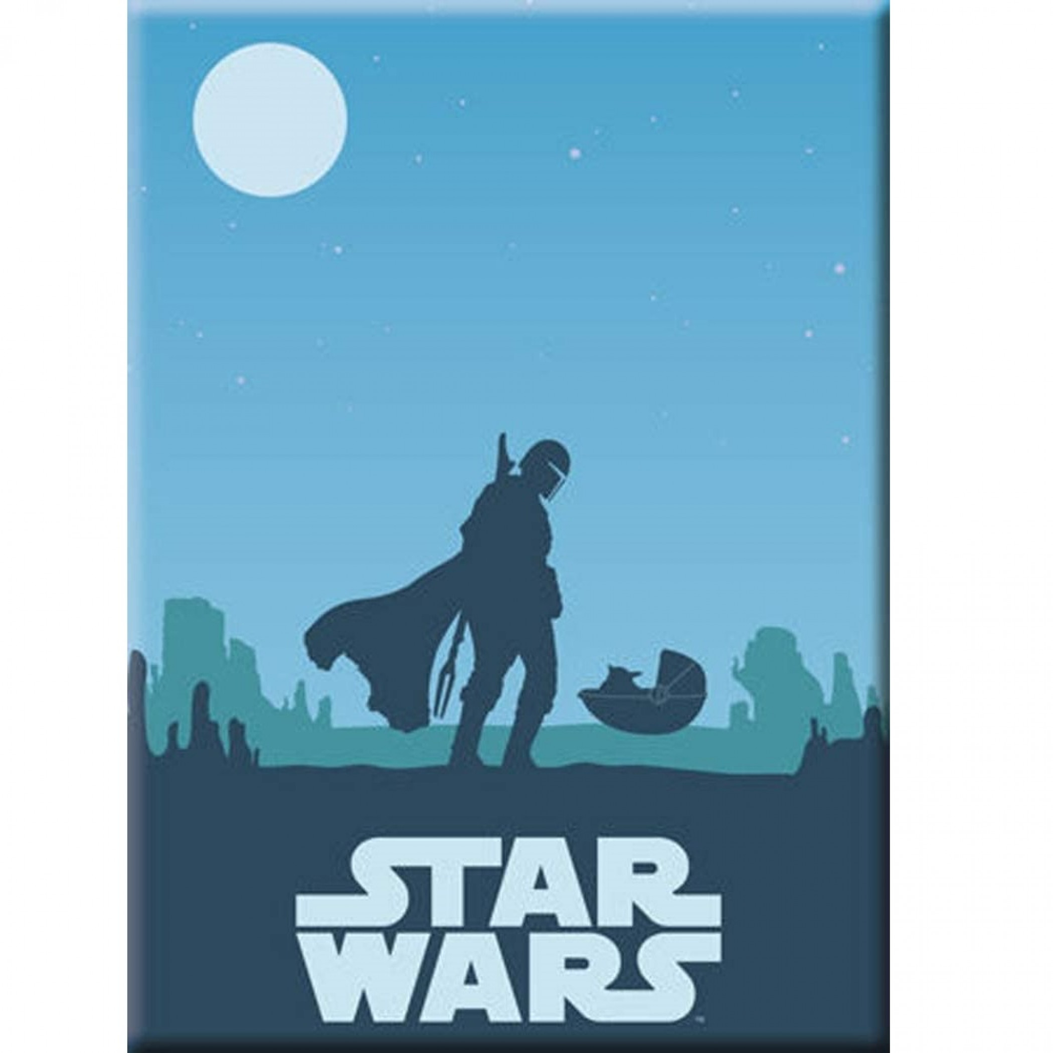Star Wars The Mandalorian Blue Sunset Magnet