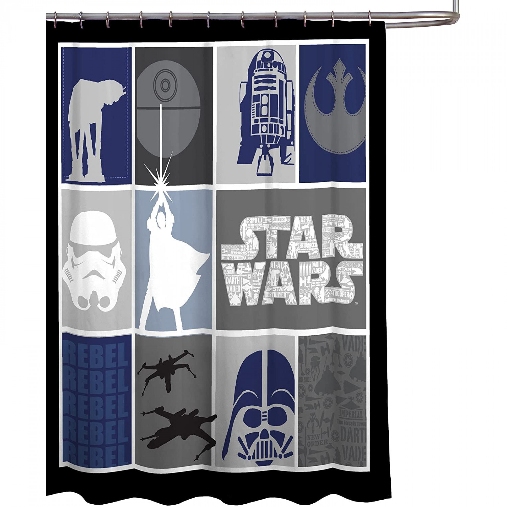 Star Wars Classic Collage Shower Curtain