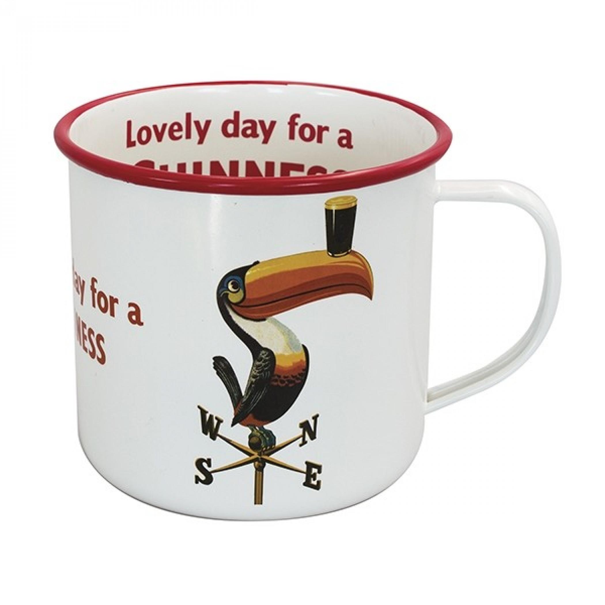Guinness Enamel Lovely Day Toucan Mug