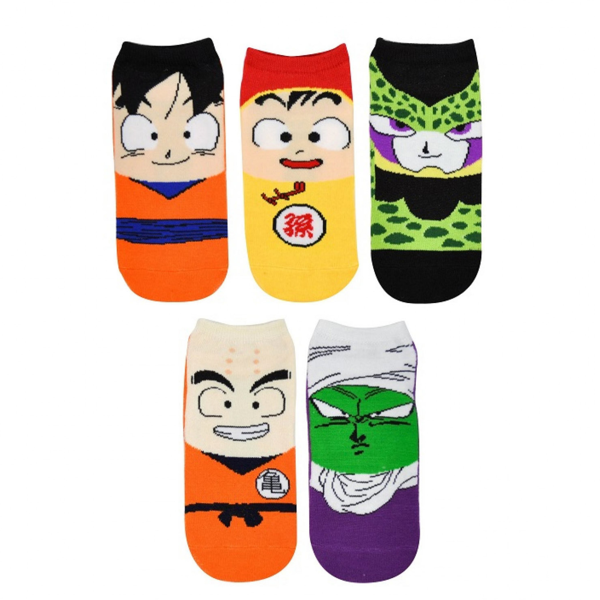 Dragon Ball Z Chibi 5-Pair Pack of Low Cut Socks