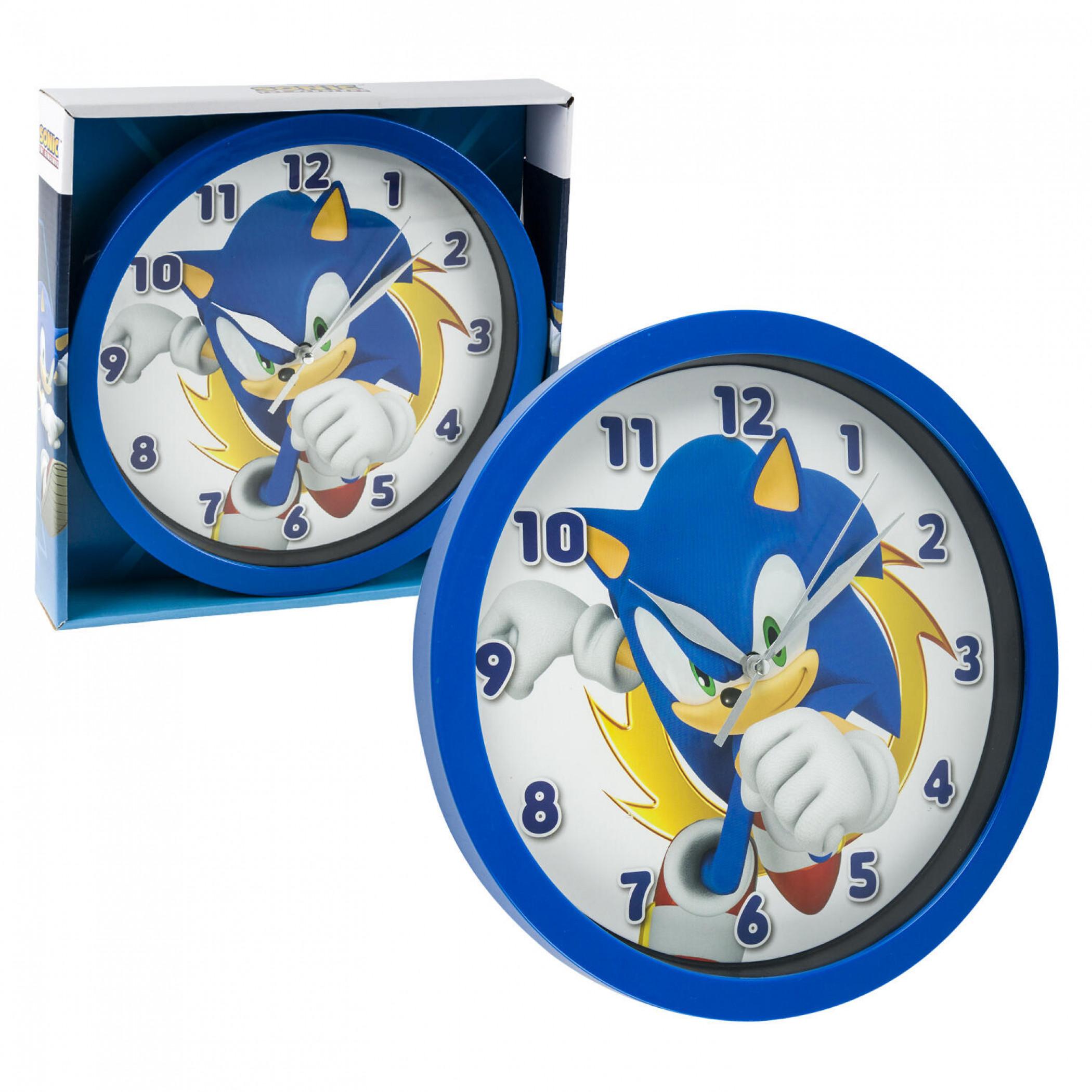"Sonic the Hedgehog Character Print 9 3/4"" Wall Clock"