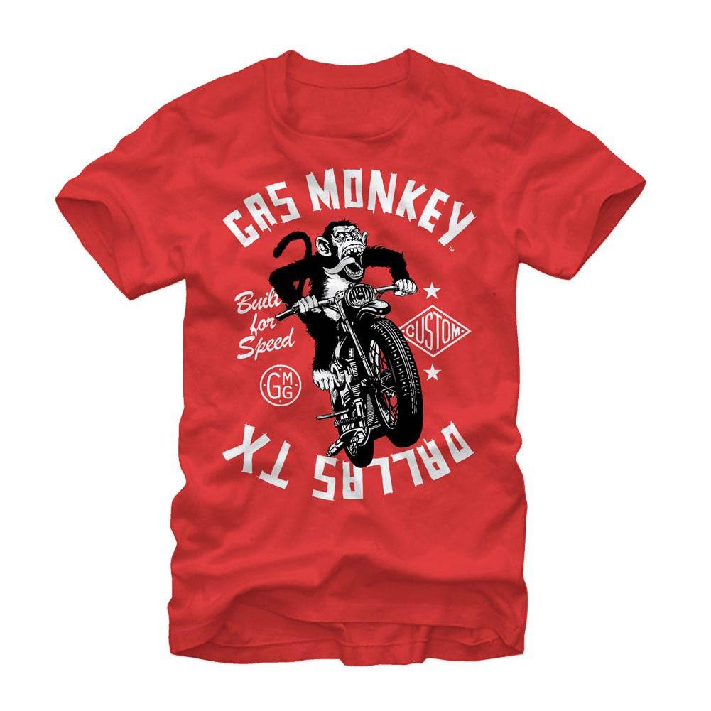 Gas Monkey Garage Monkey Moto Red T-Shirt