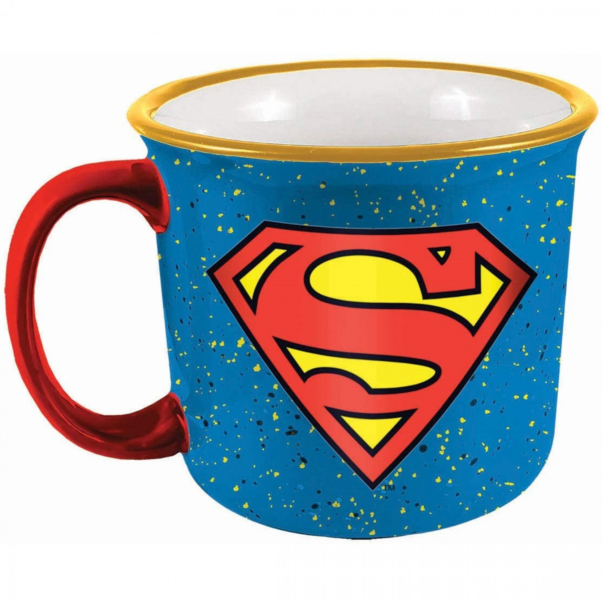 Superman Symbol Ceramic Camper Mug