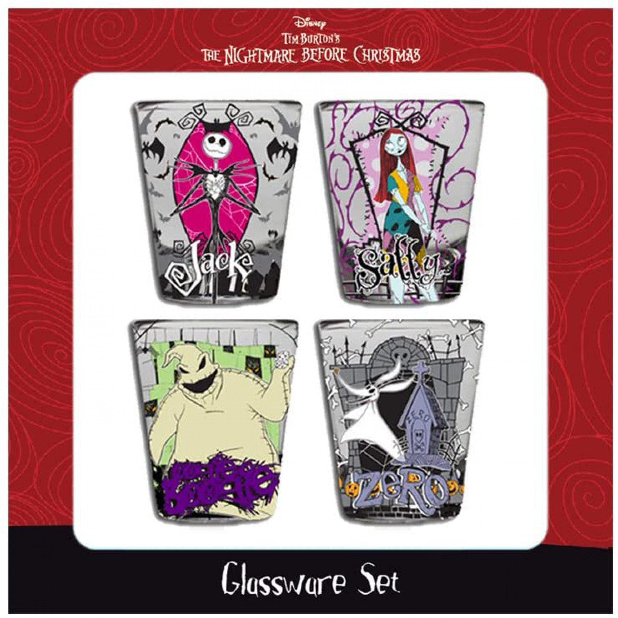 Nightmare Before Christmas Characters Shot Glass Set