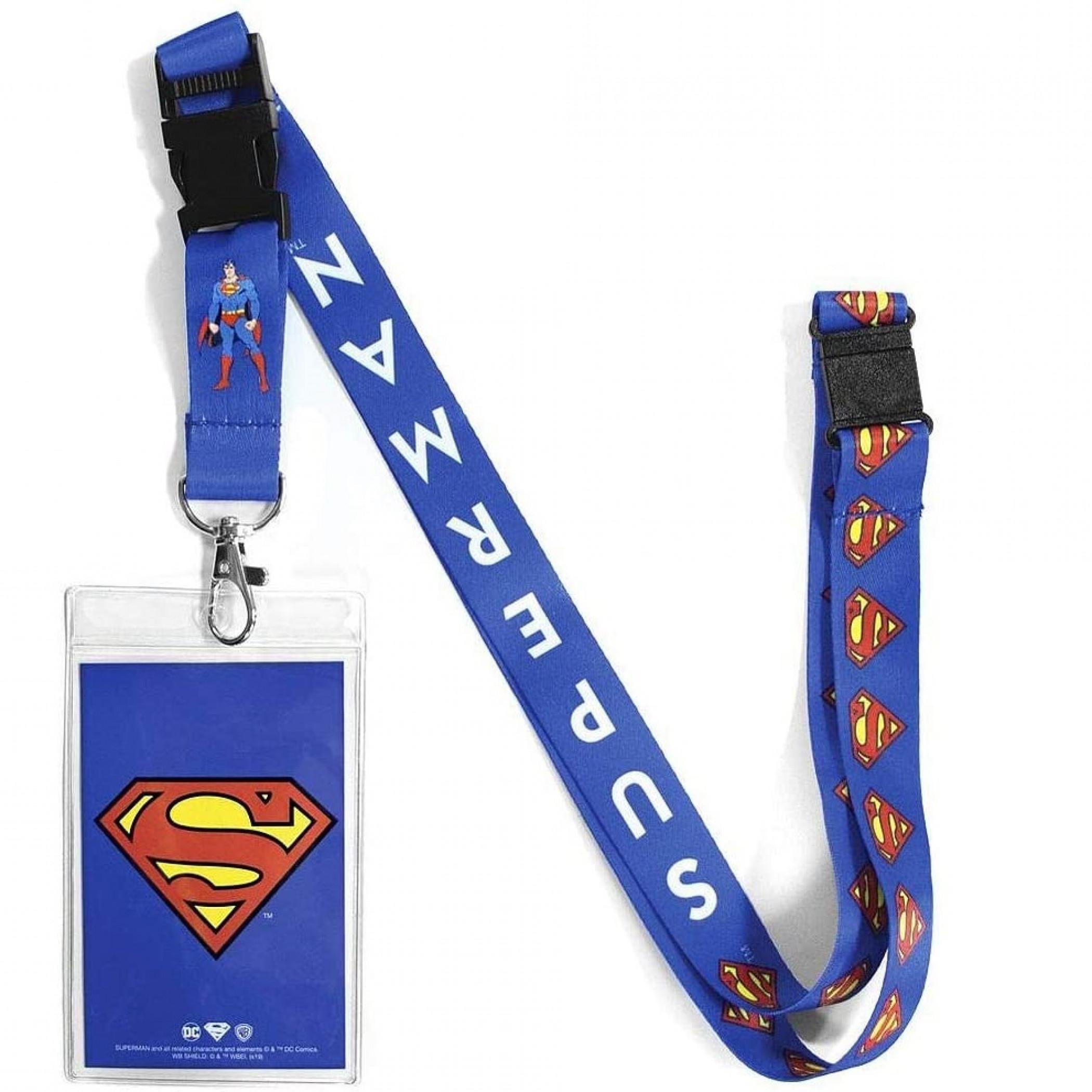 Superman Repeating Logos Lanyard