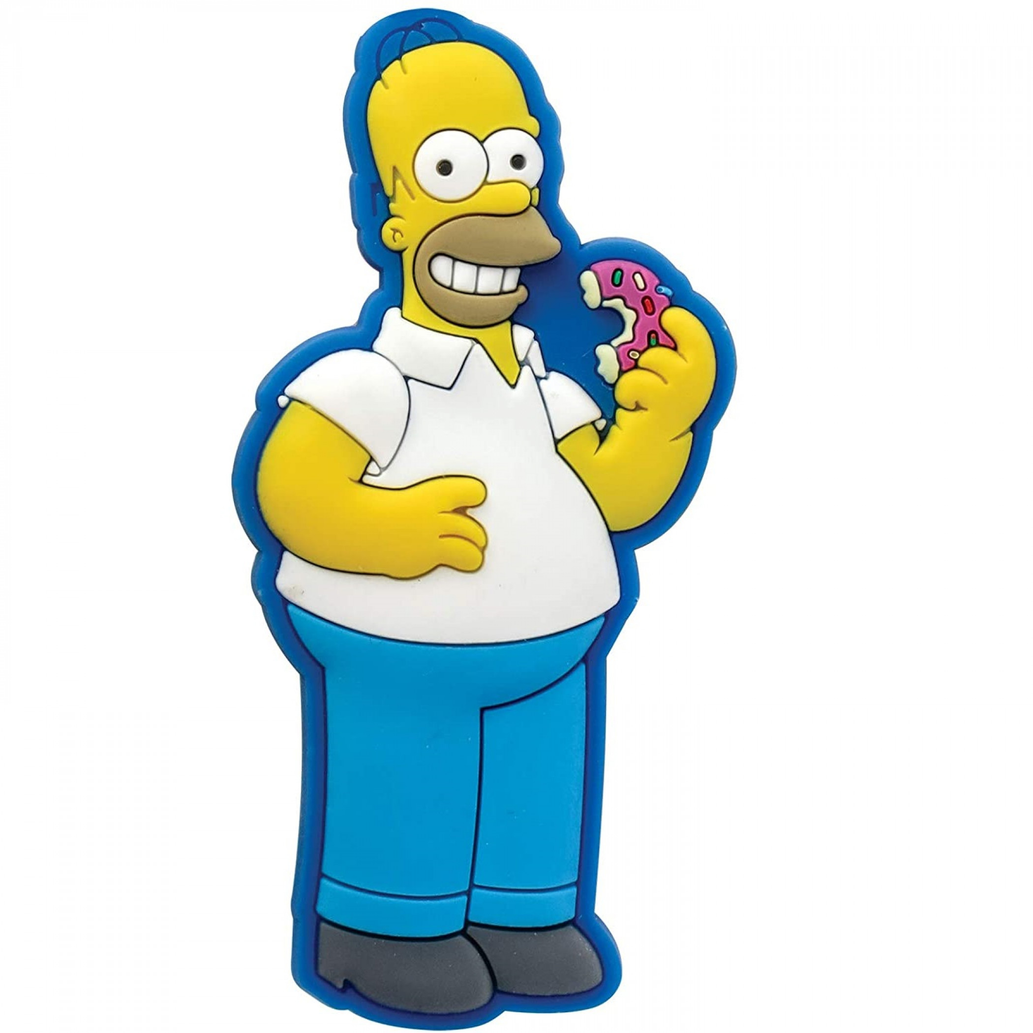The Simpsons Homer with Donut Soft Touch PVC Magnet