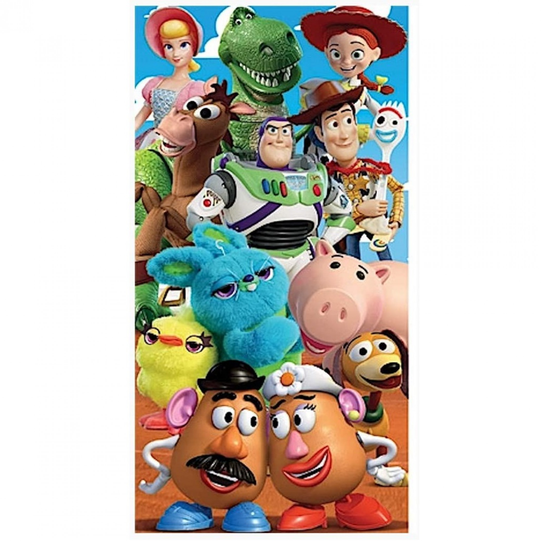 Toy Story 28 X 58 Group Beach Towel