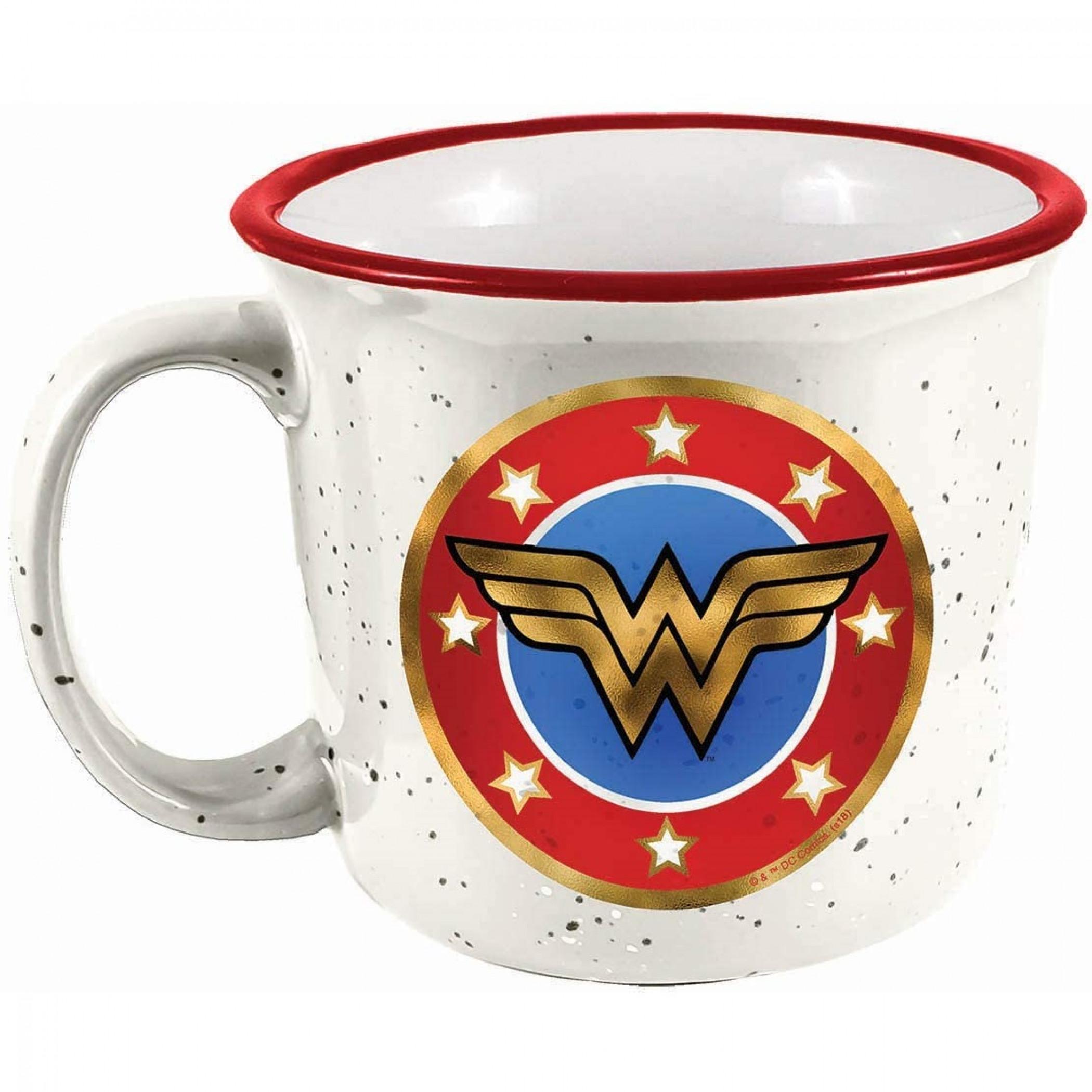 Wonder Woman Symbol Ceramic Camper Mug
