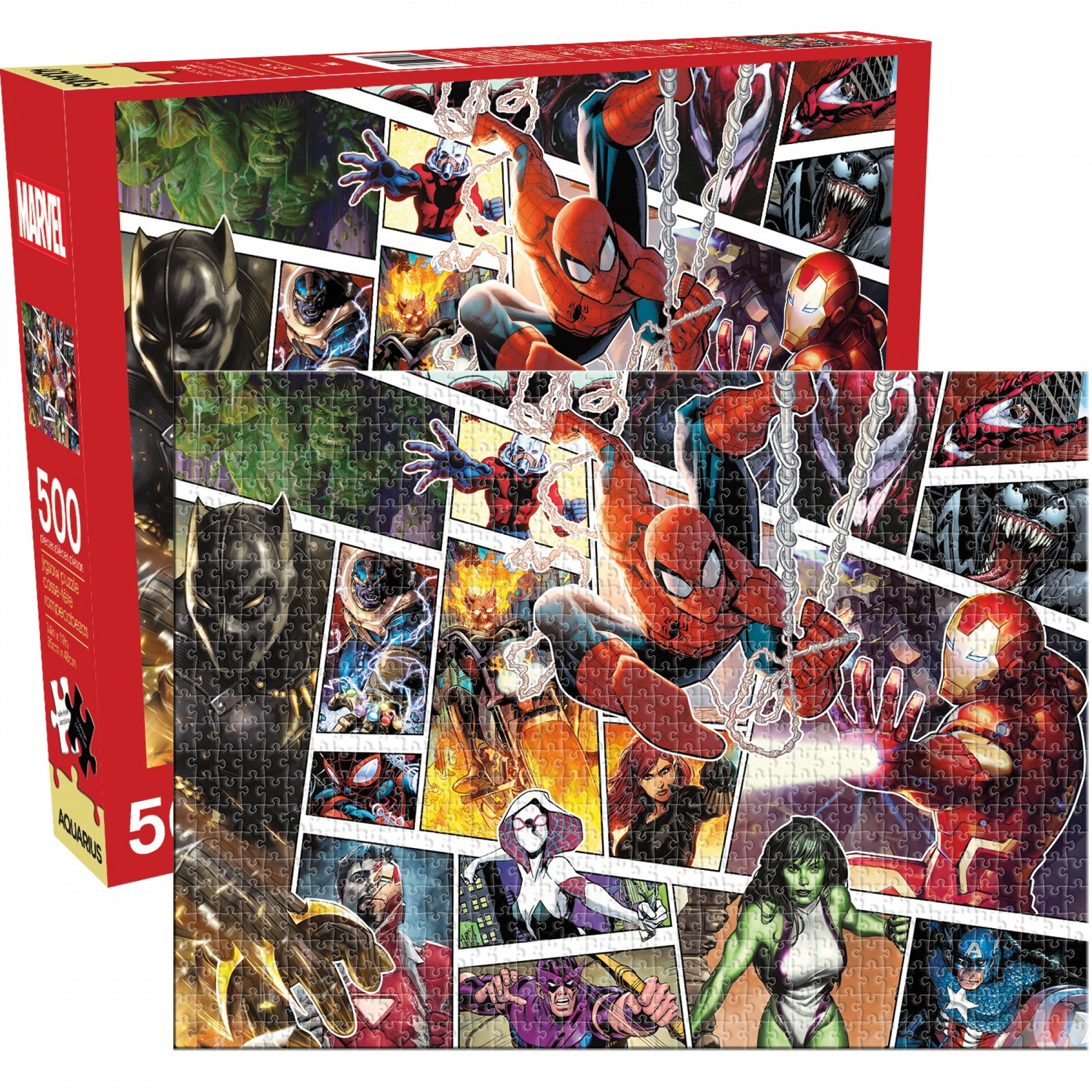 Marvel Character Panels 500-Piece Jigsaw Puzzle