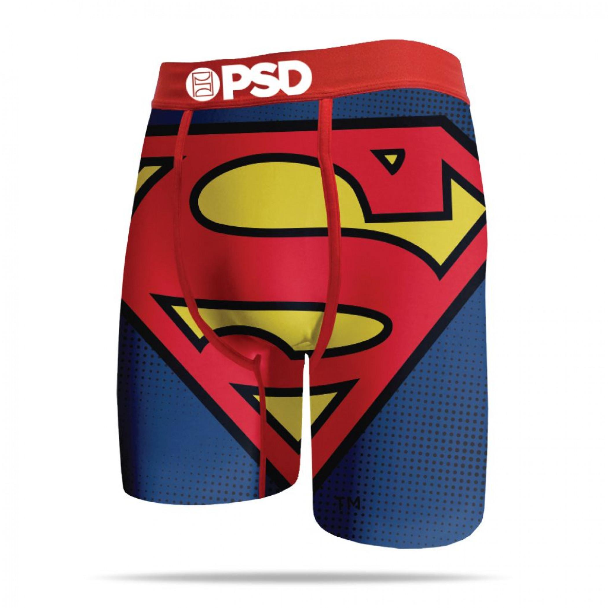 DC Comics Superman Large Symbol Men's PSD Boxer Briefs