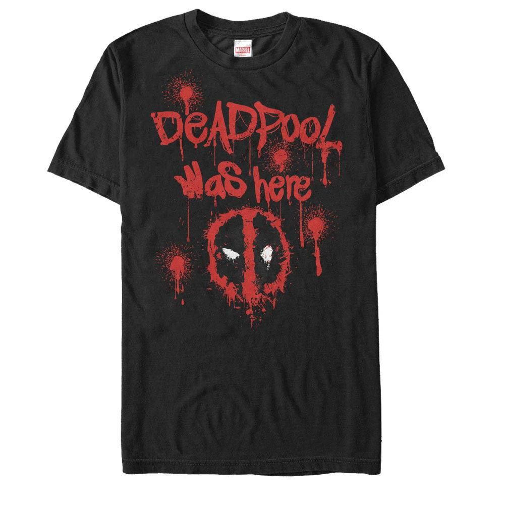 Deadpool Tag Line Black Mens T-Shirt