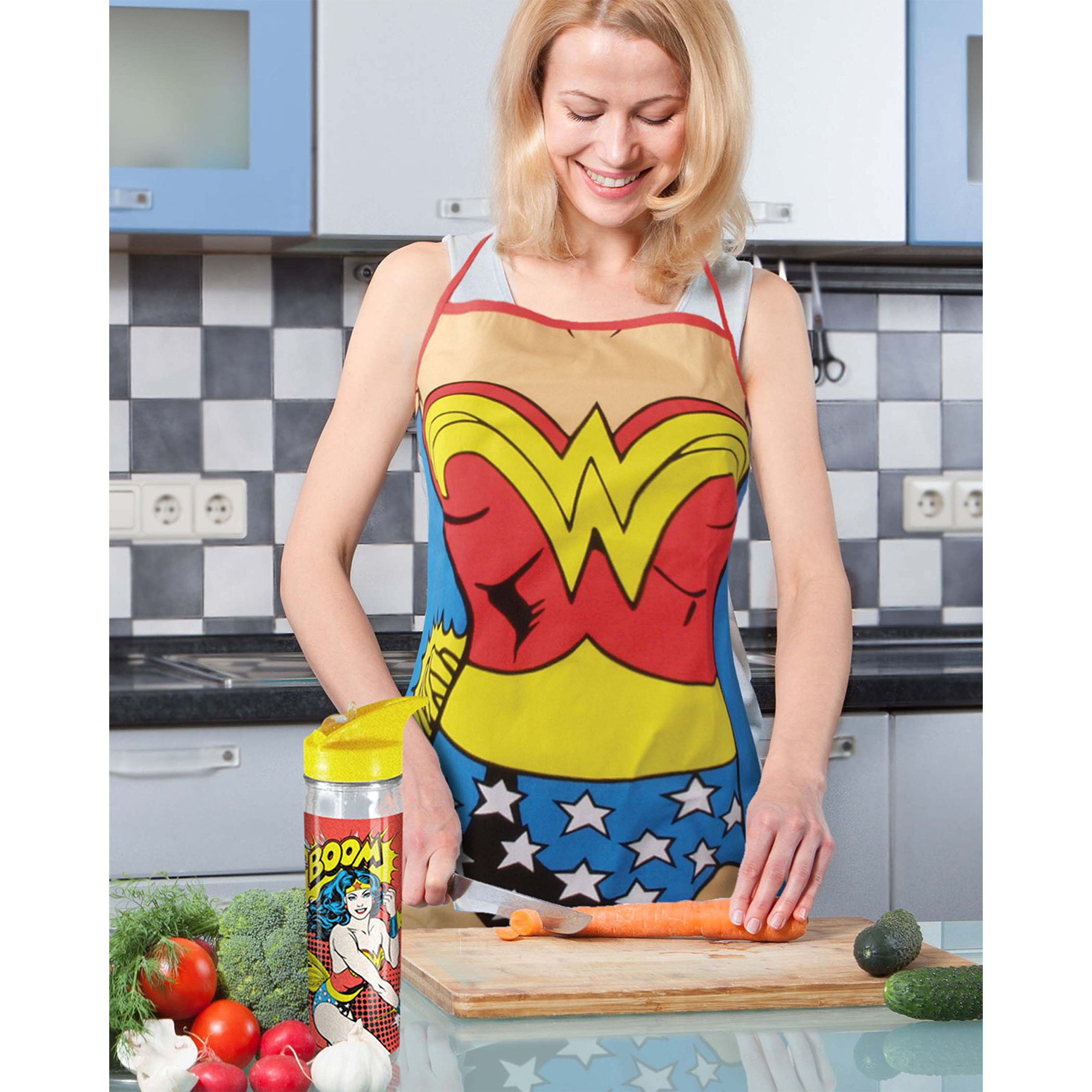 Wonder Woman Costume Kitchen Apron