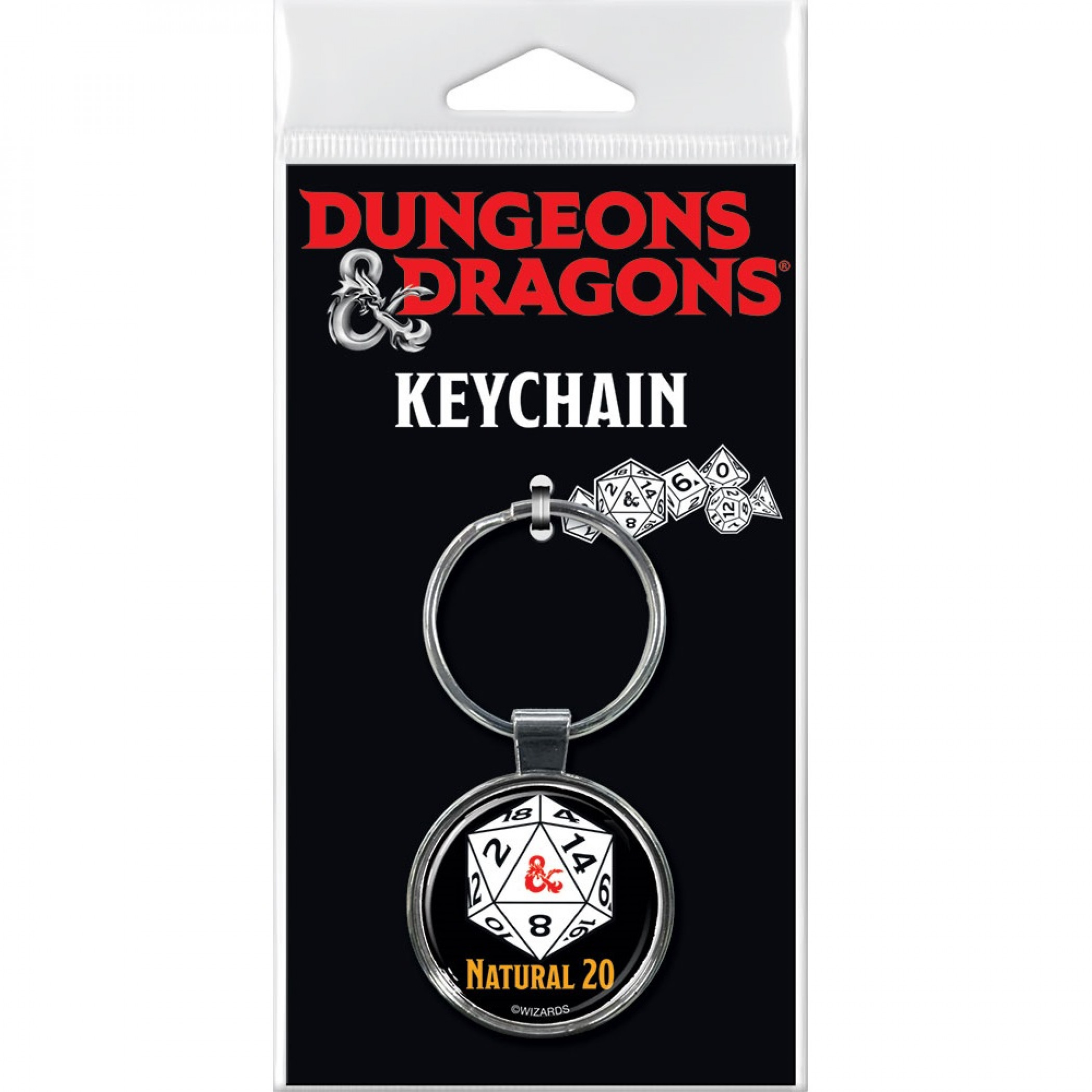 Dungeons & Dragons Natural 20 Keychain