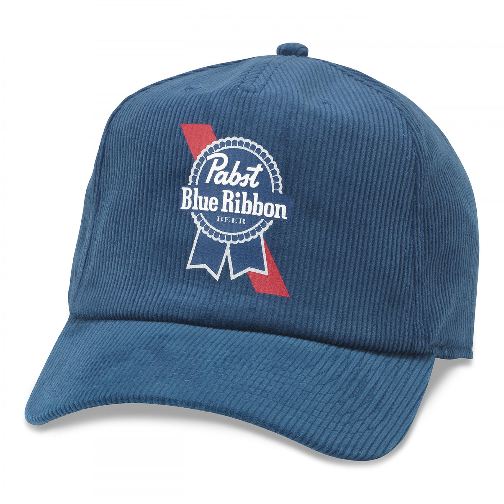 Pabst Blue Ribbon Beer Printed Corduroy Hat