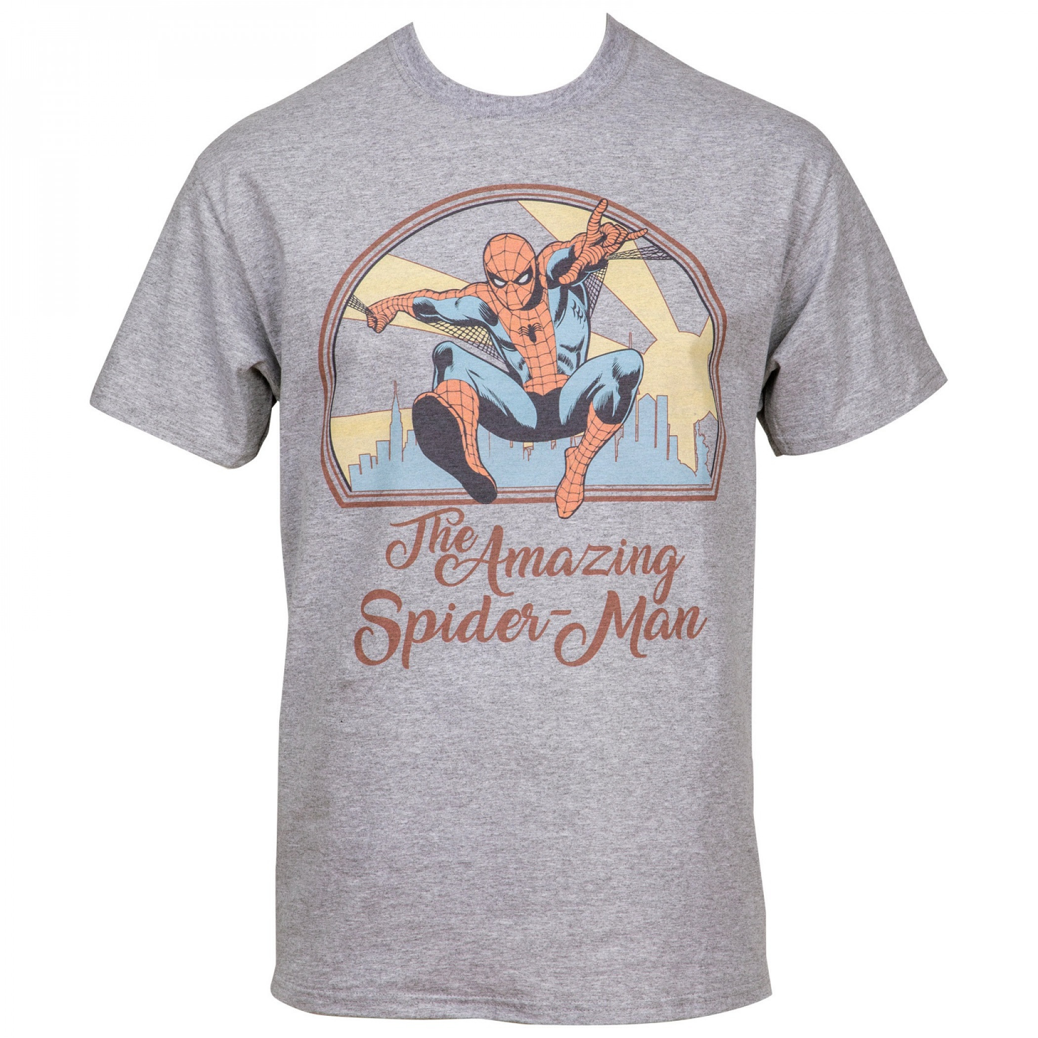 The Amazing Spider-Man Swinging Through The City Men's T-Shirt