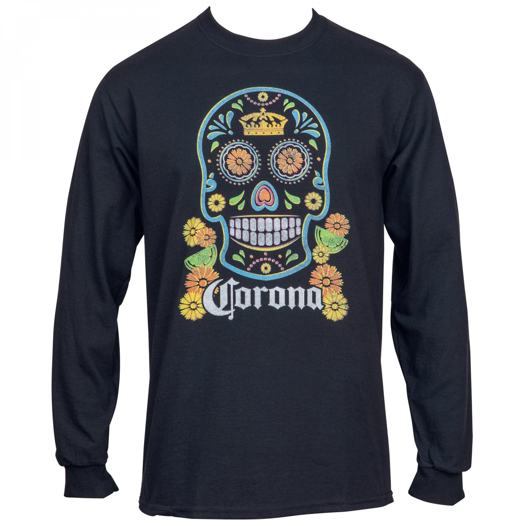 Corona Extra Sugar Skull Unisex Long Sleeve Shirt