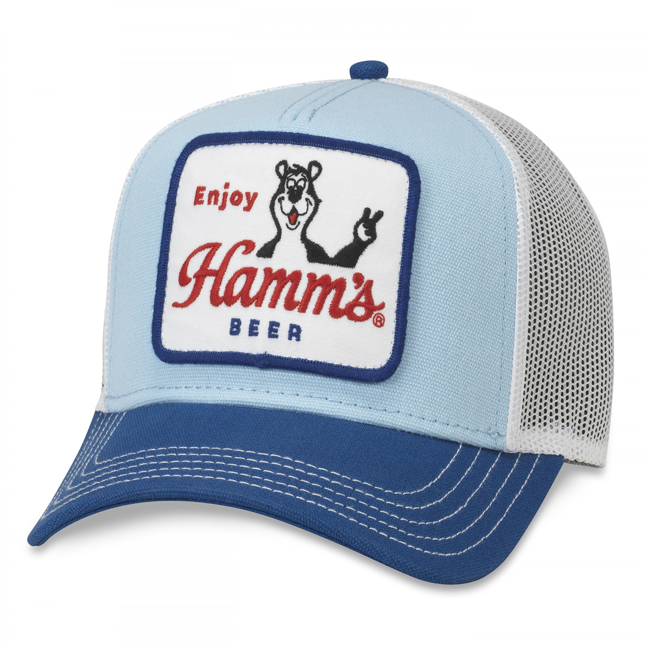 Hamm's Bear Patch Trucker Hat