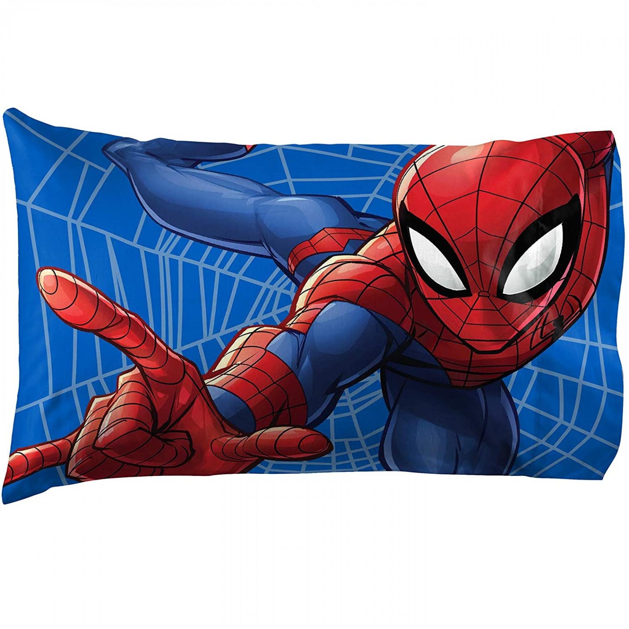 Spider-Man Web Sides Pillow Case