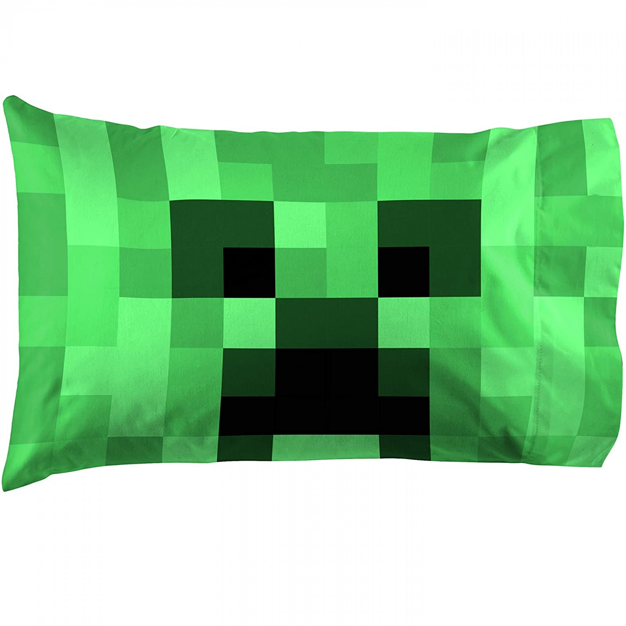 Minecraft Lone Creeper Pillow Case