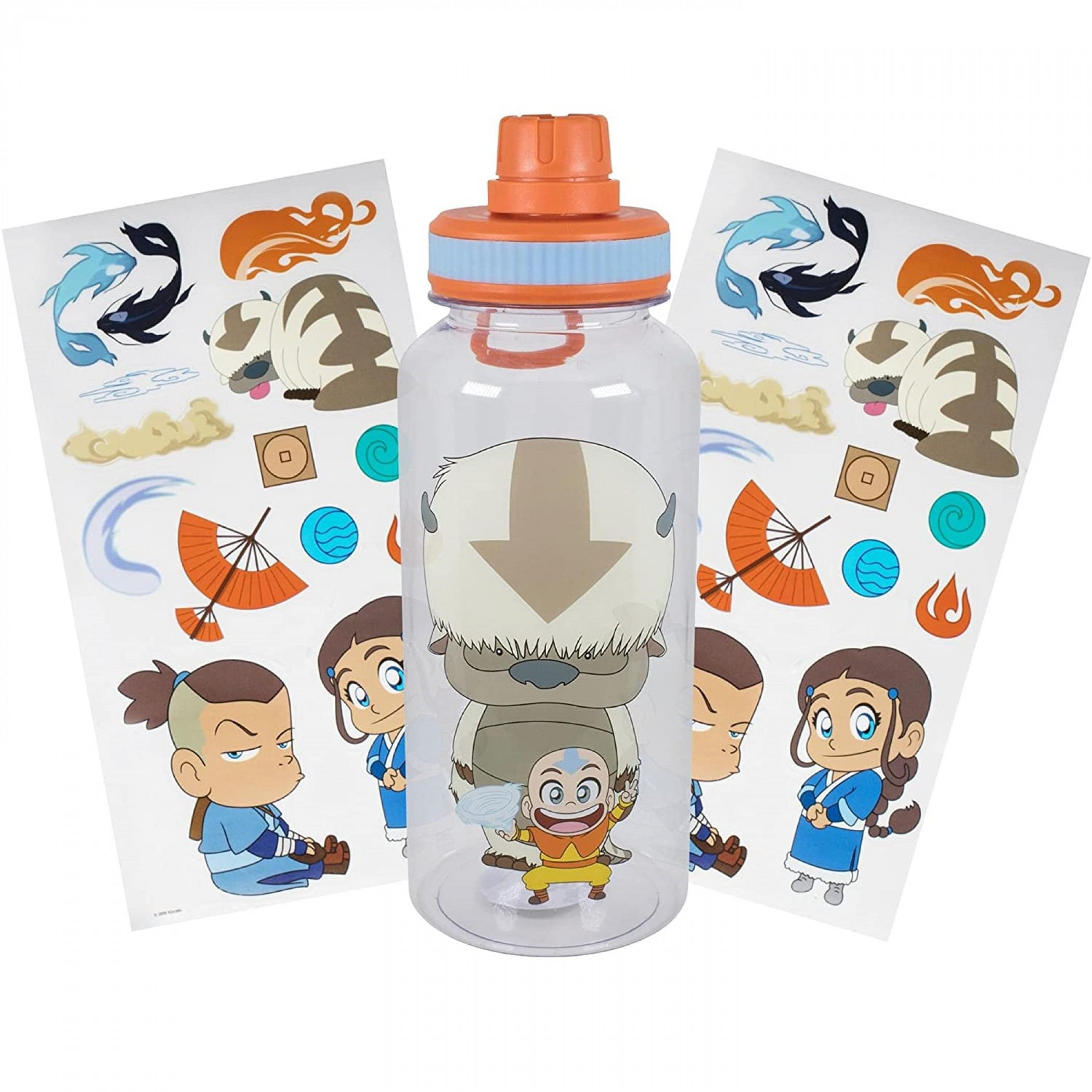 Avatar: The Last Airbender Chibi Icons 32oz Water Bottle with Stickers