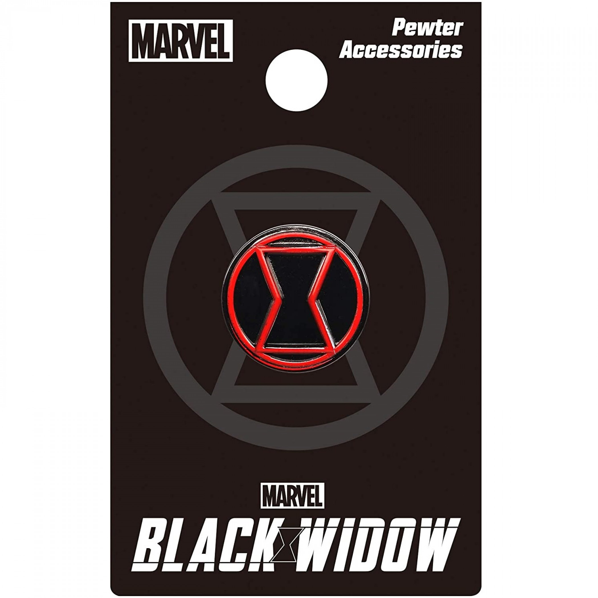 Black Widow Movie Symbol Pewter Lapel Pin