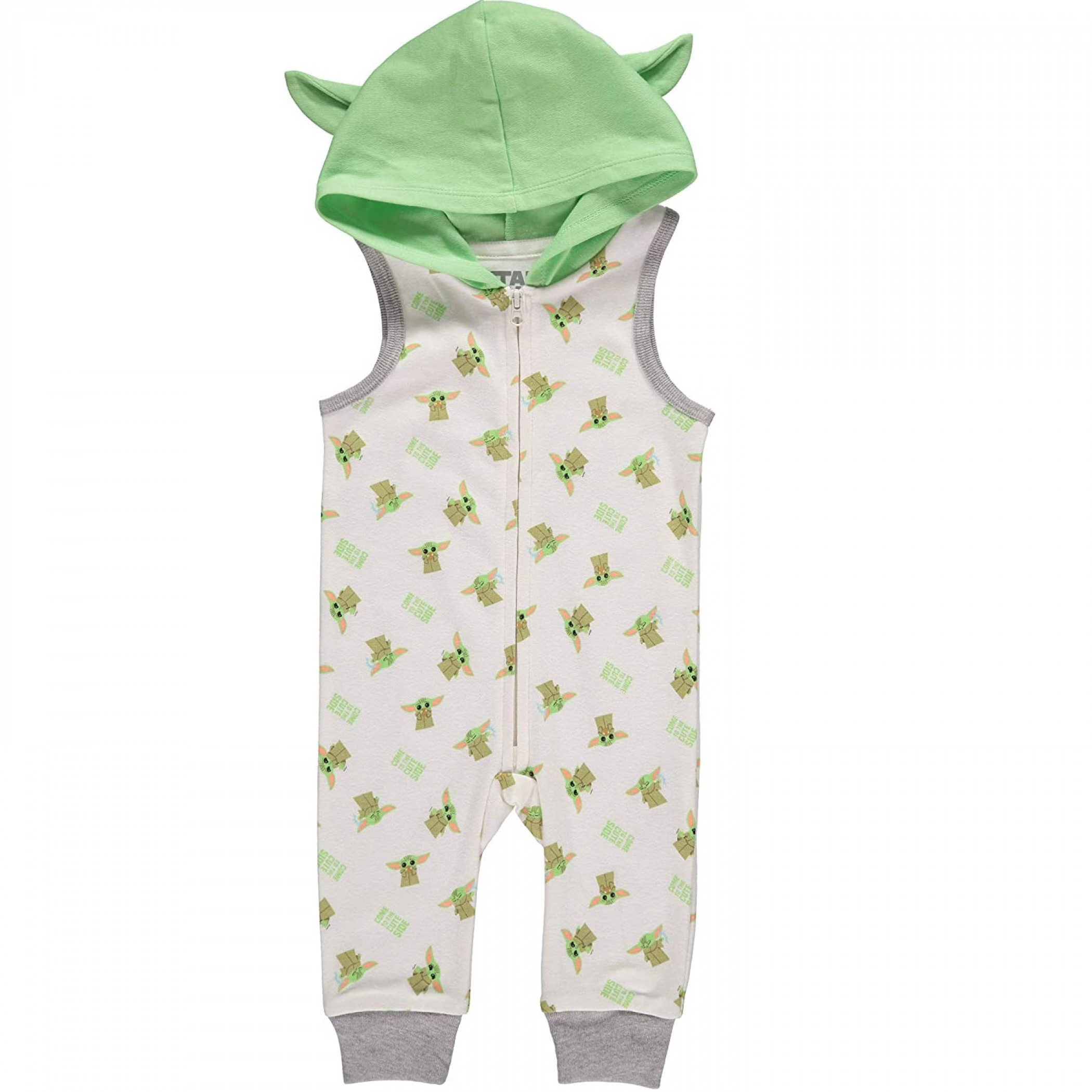 Star Wars The Mandalorian Child Sleeveless Romper With Hood