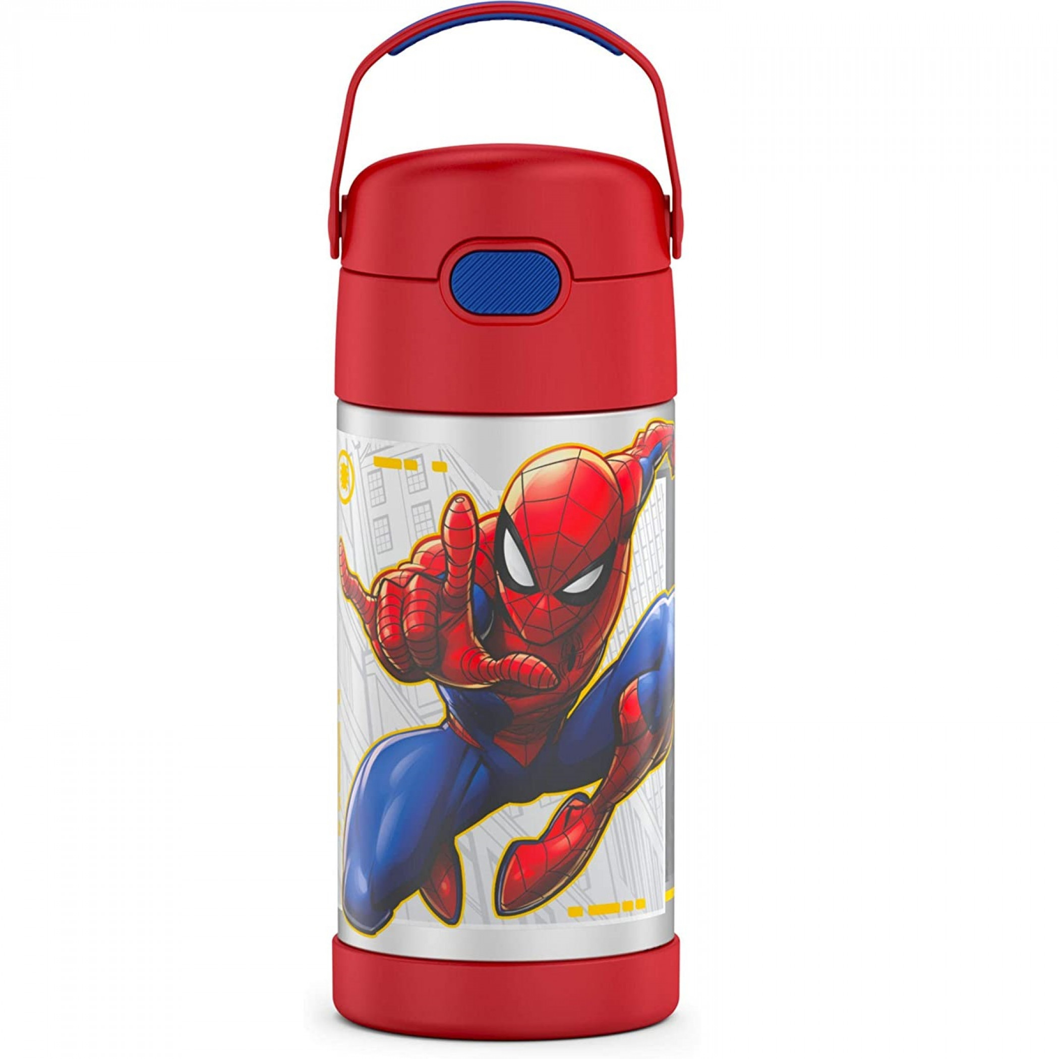 Spider-Man Swinging Stainless Steel 12oz Thermos Funtainer