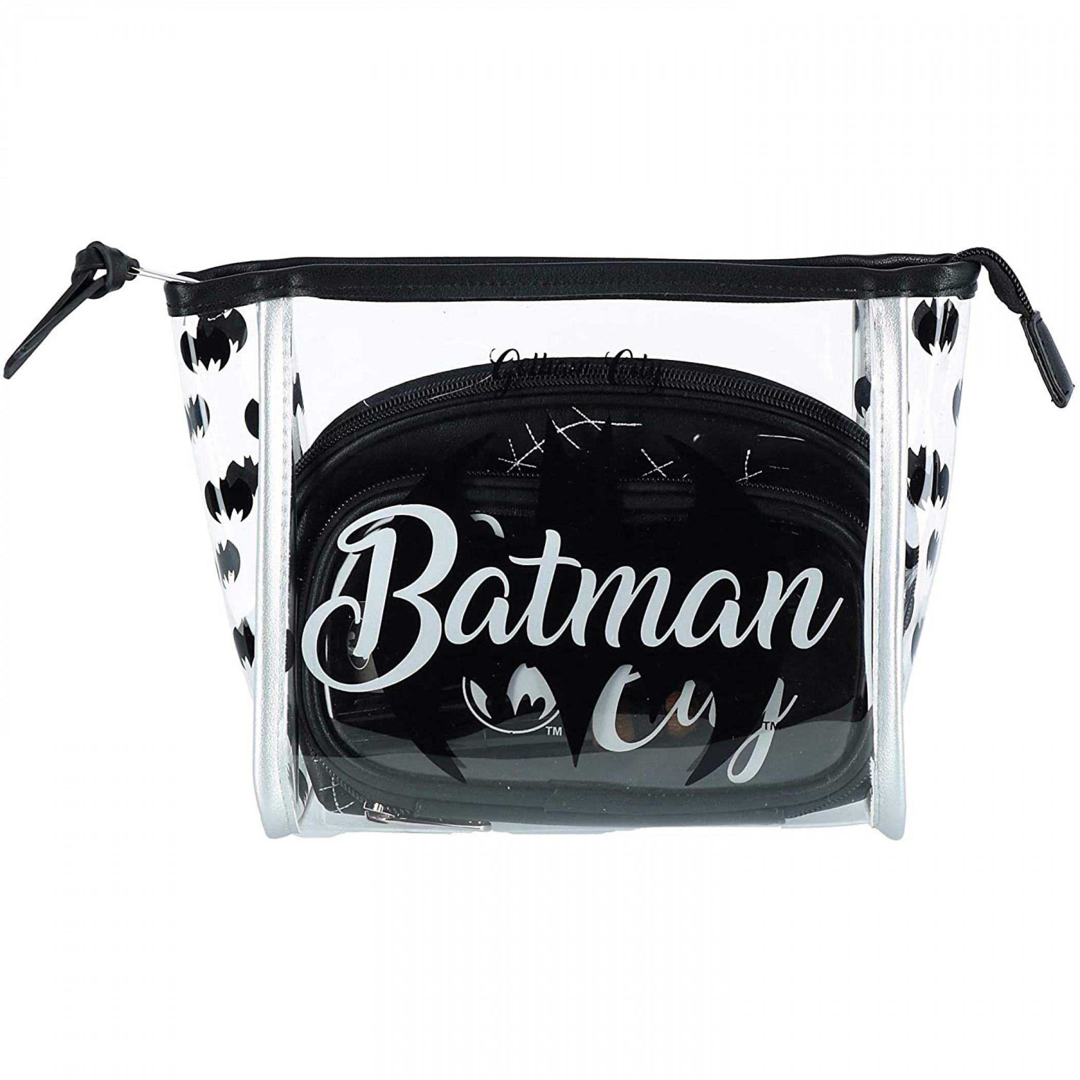 Batman Cosmetic 3-Piece Makeup Bag Set
