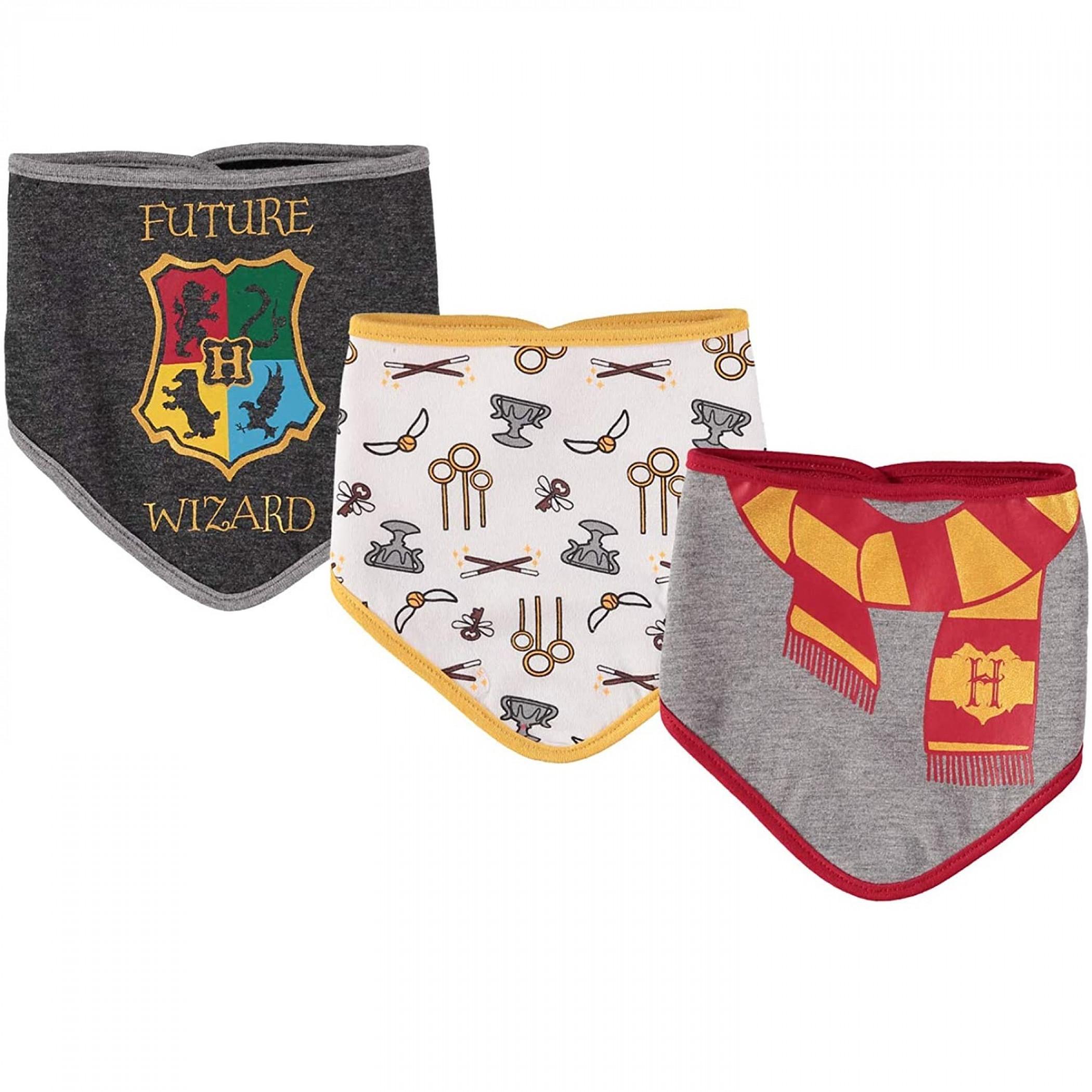 Harry Potter Bandana Bib 3 Pack