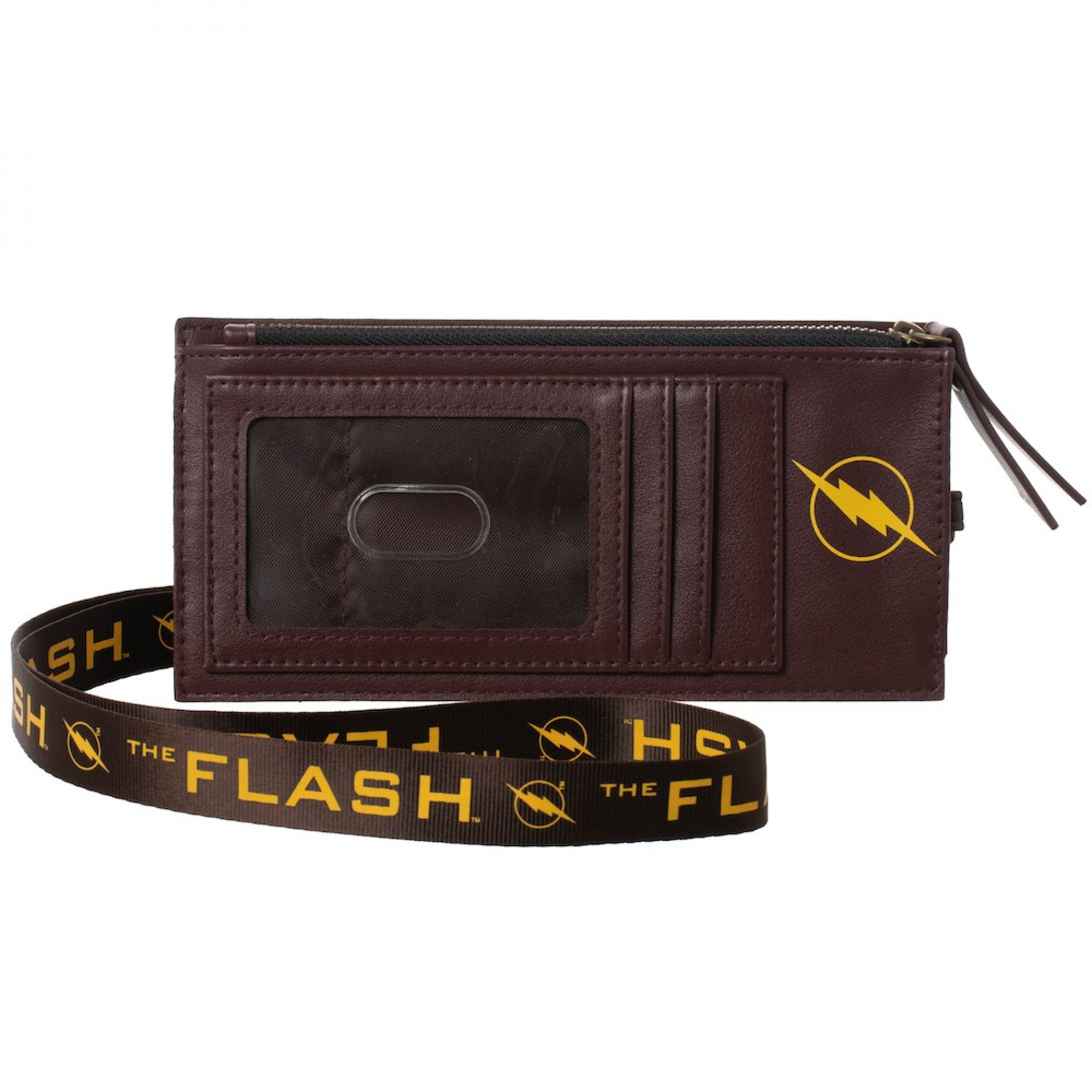 Flash Maroon Phone Sleeve With Lanyard