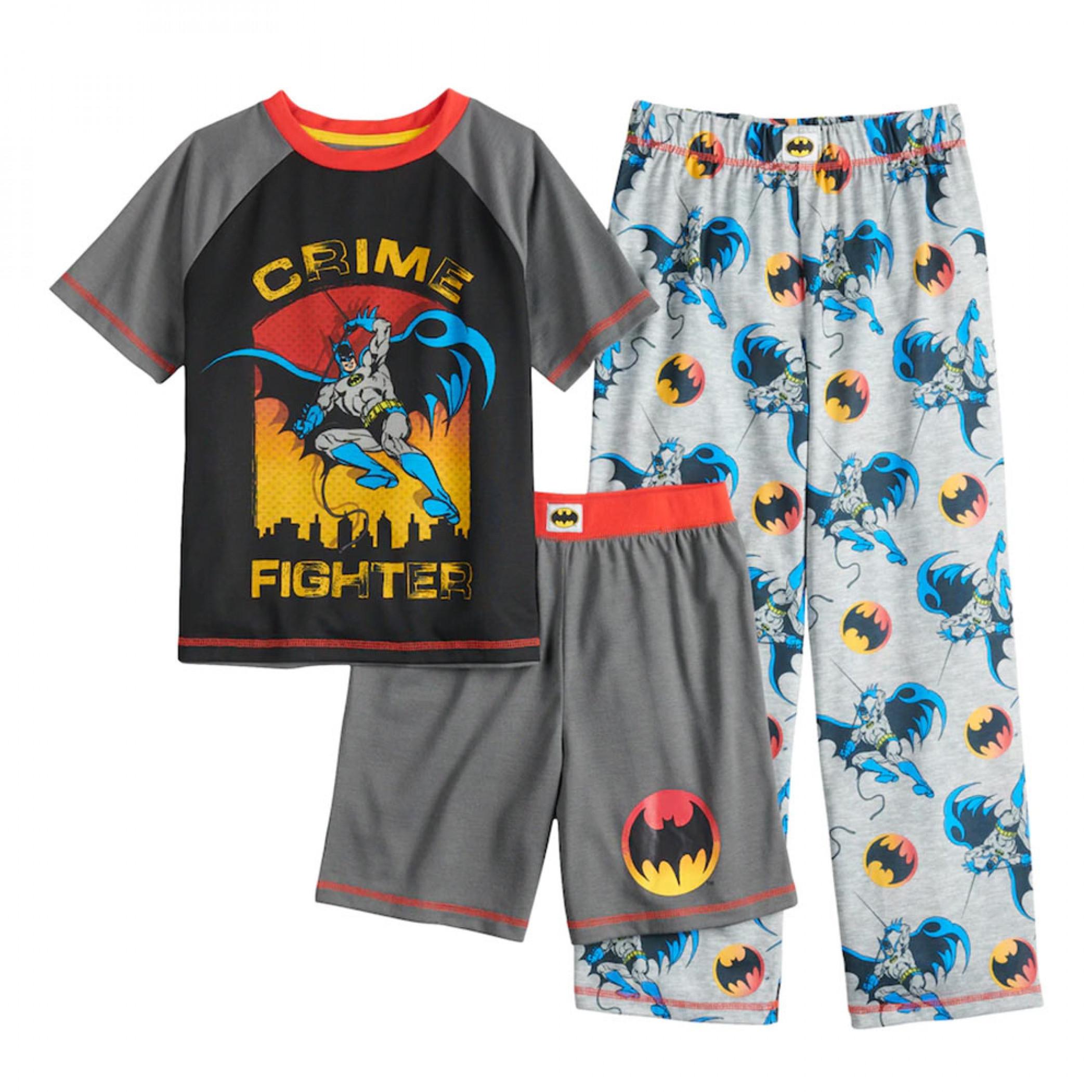 Batman Crime Fighter Youth Sleep 3-Piece Set