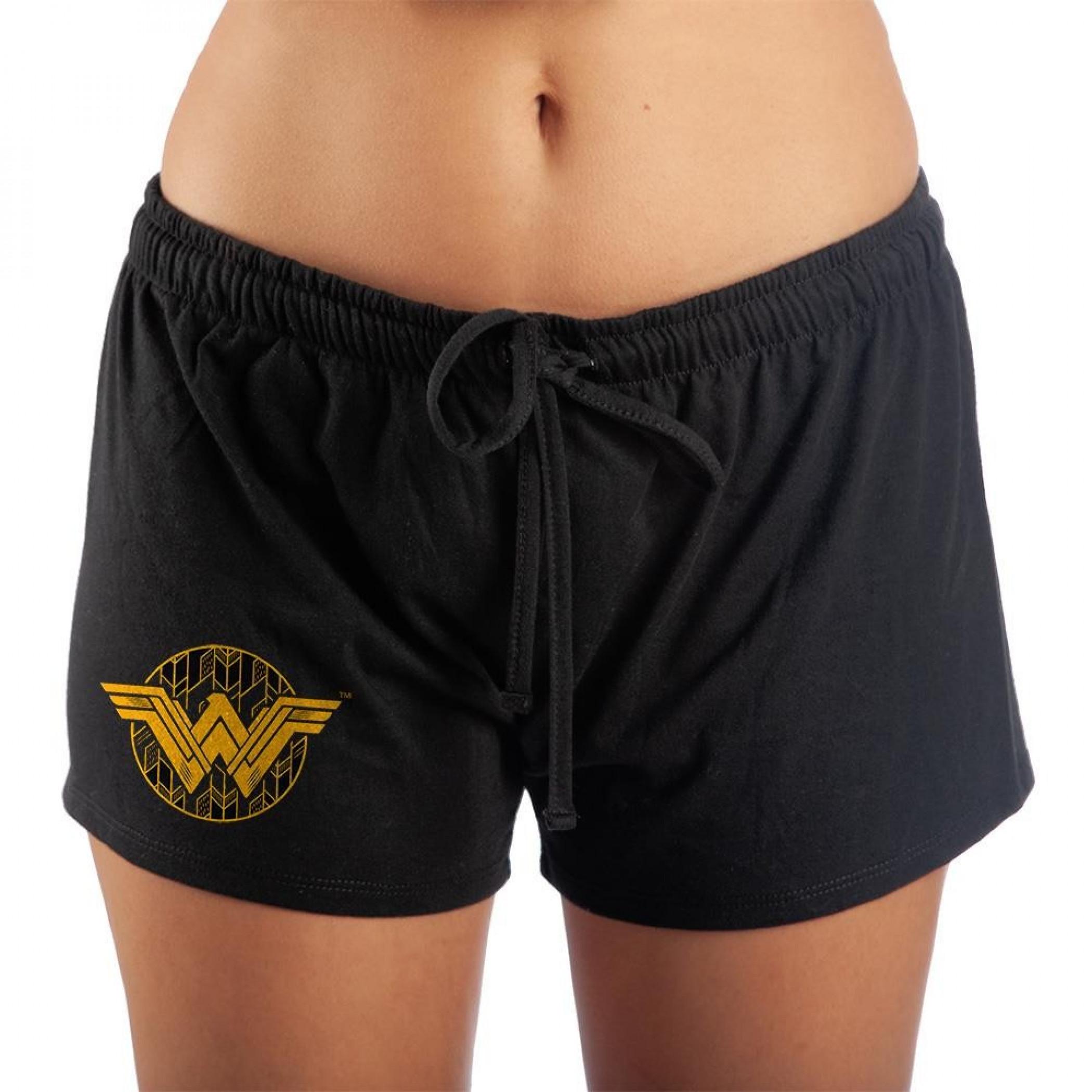 Wonder Woman Symbol Women's Sleep Shorts