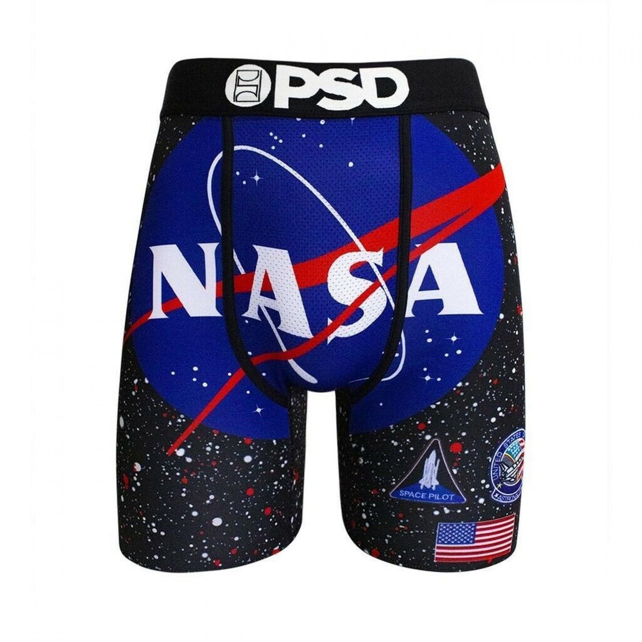 NASA Men's Black Boxer Briefs