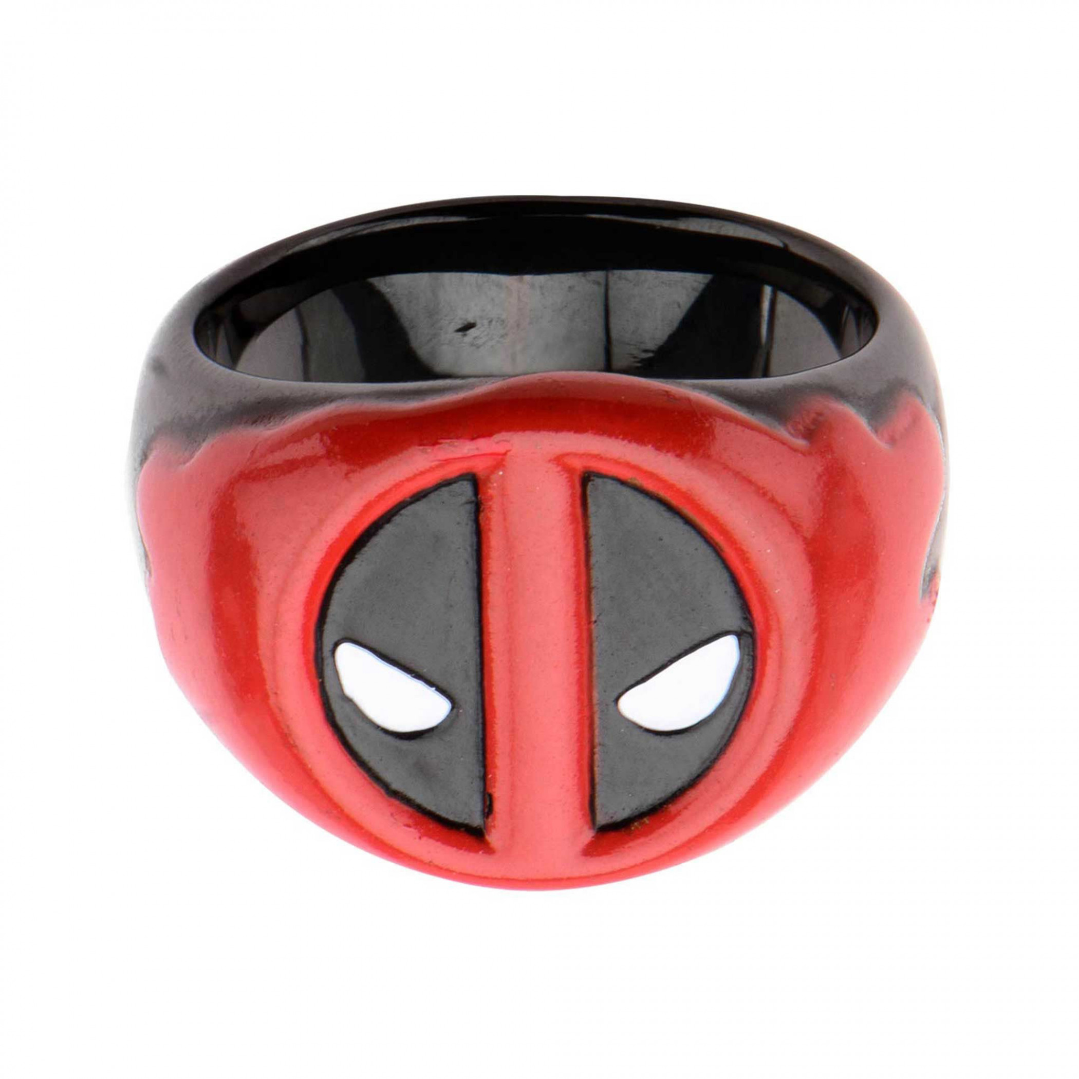 Marvel Deadpool Stainless Steel Red Blood Ring
