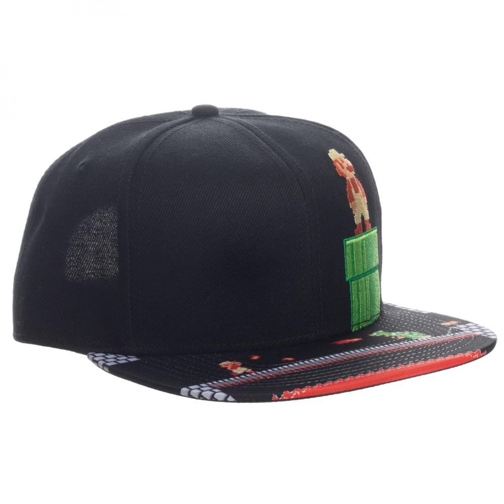 Super Mario 8-Bit Bill Snapback Hat