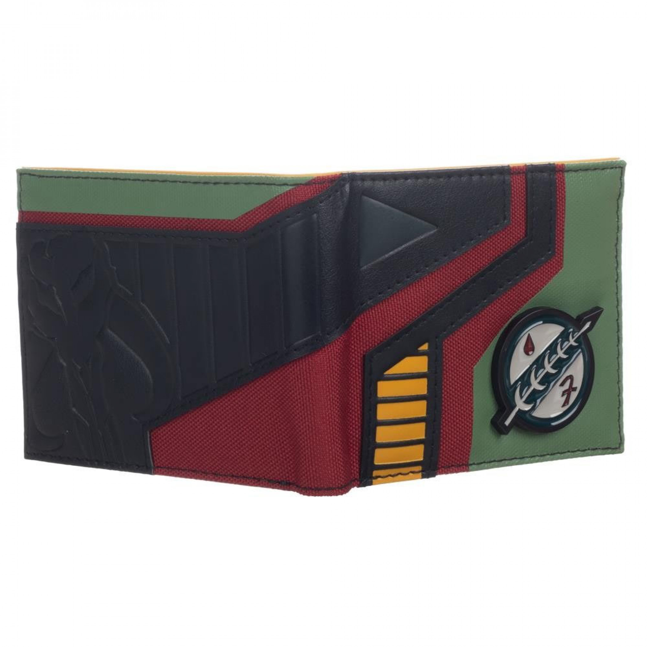 Star Wars Mixed Material Boba Fett Bifold Wallet