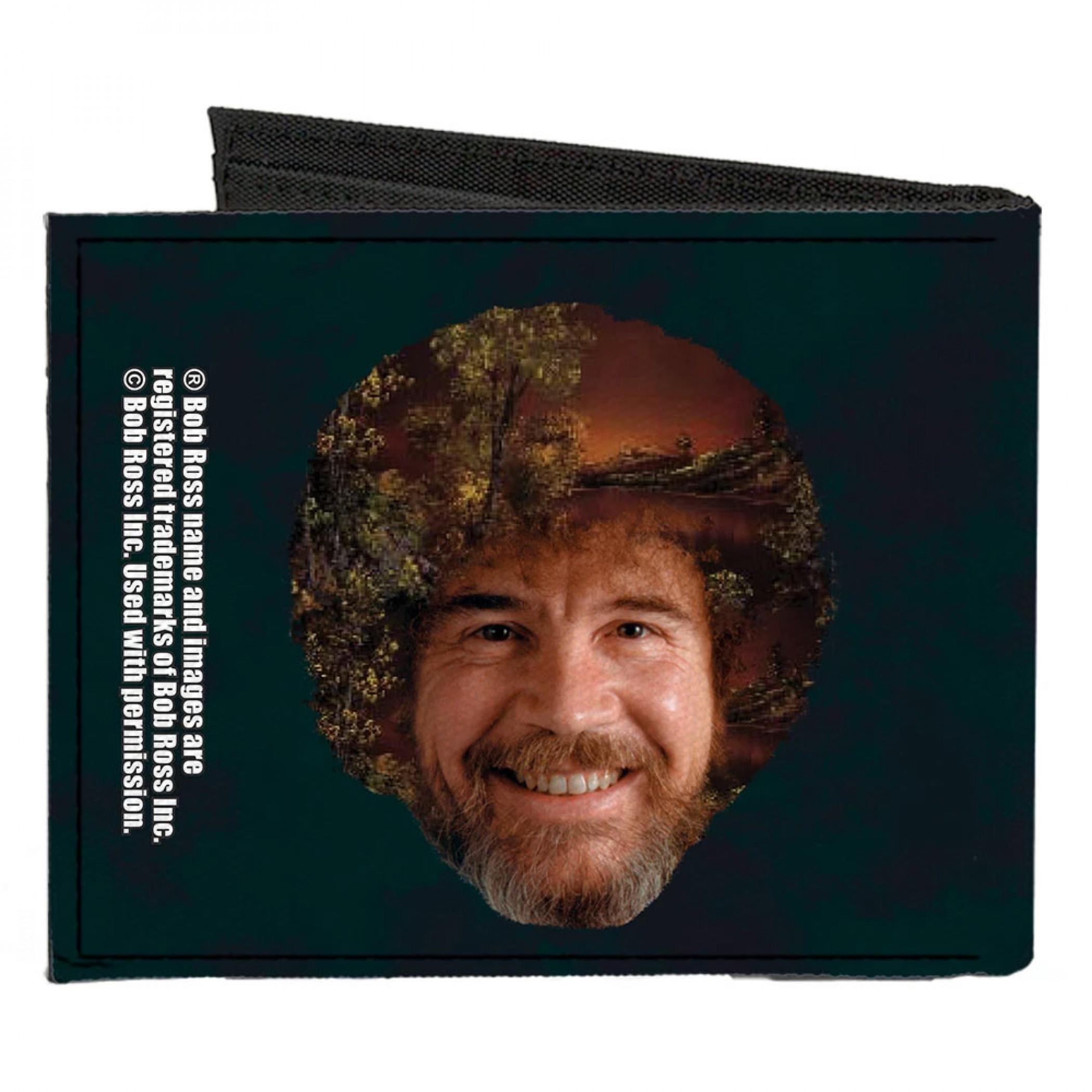 Bob Ross Canvas Bi-Fold Wallet