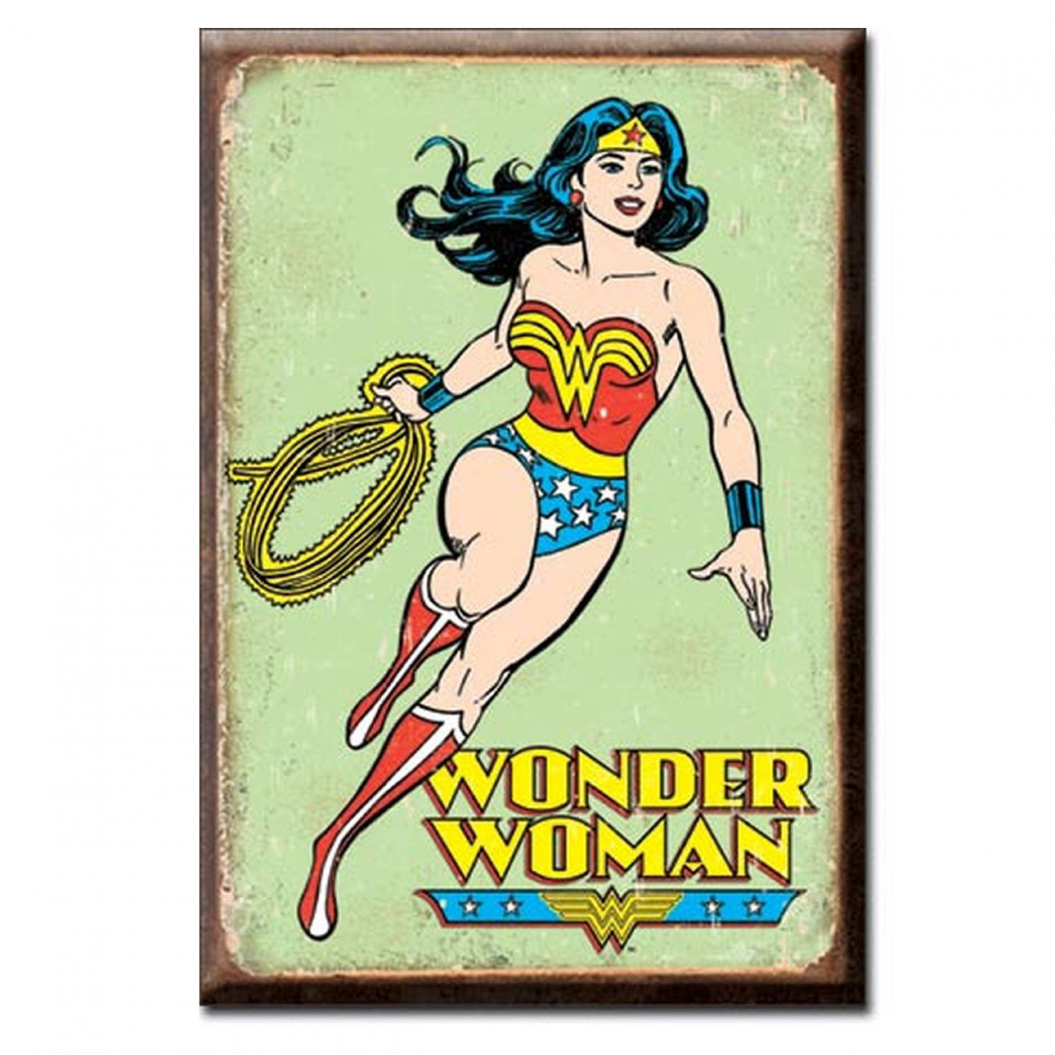 Wonder Woman 2x3 Retro Magnet