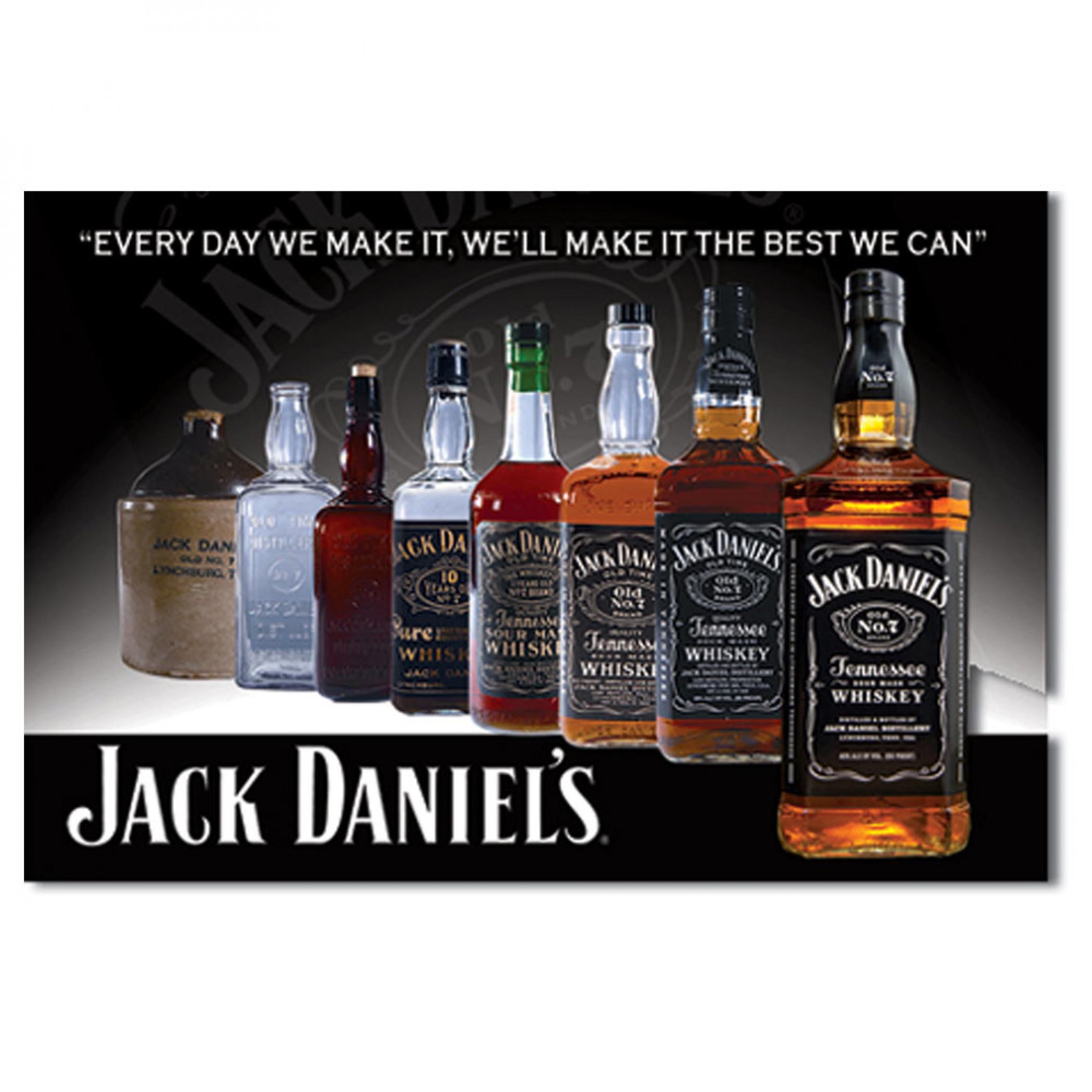 Jack Daniels Bottles 2x3 Magnet