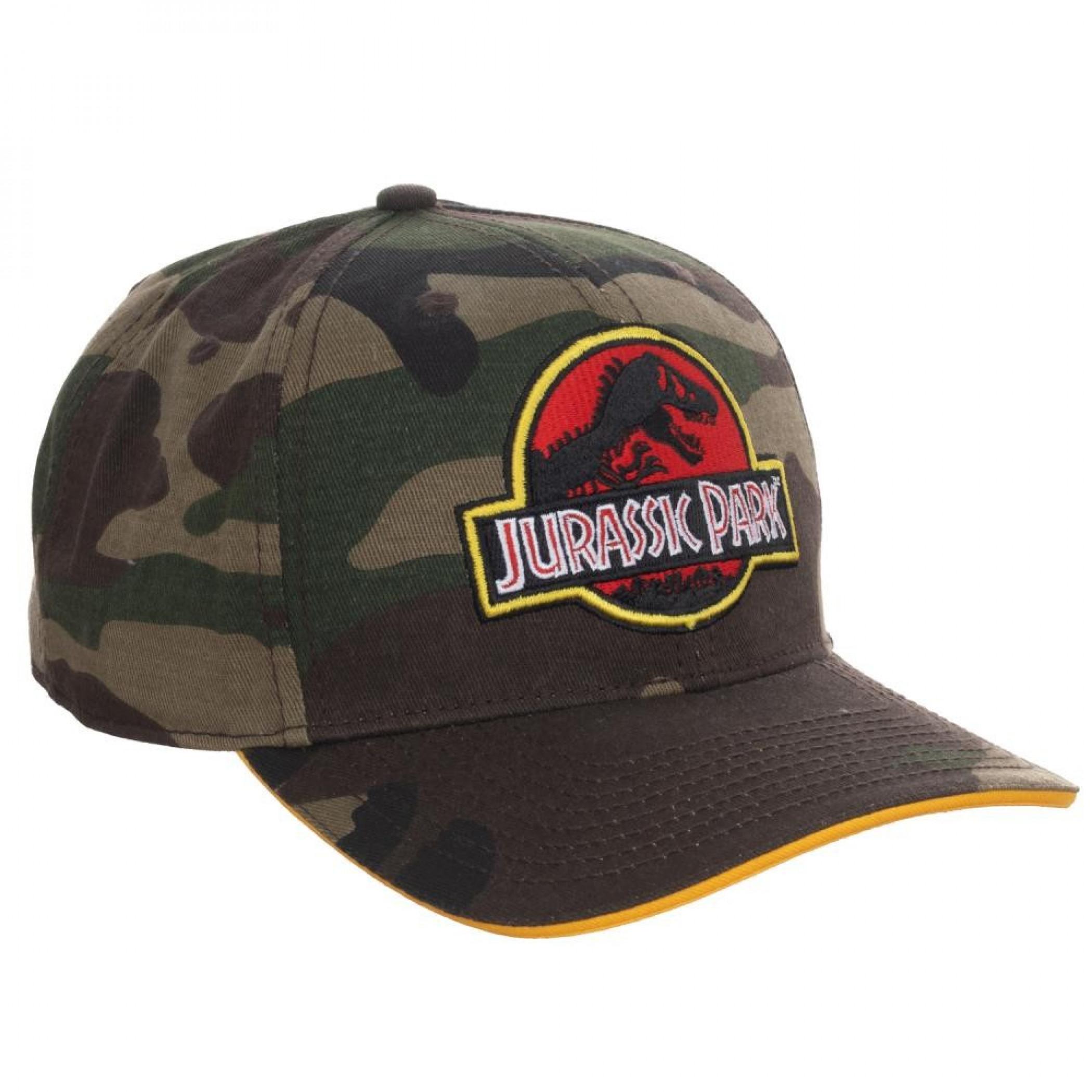 Jurassic Park Camo Adjustable Snapback Hat