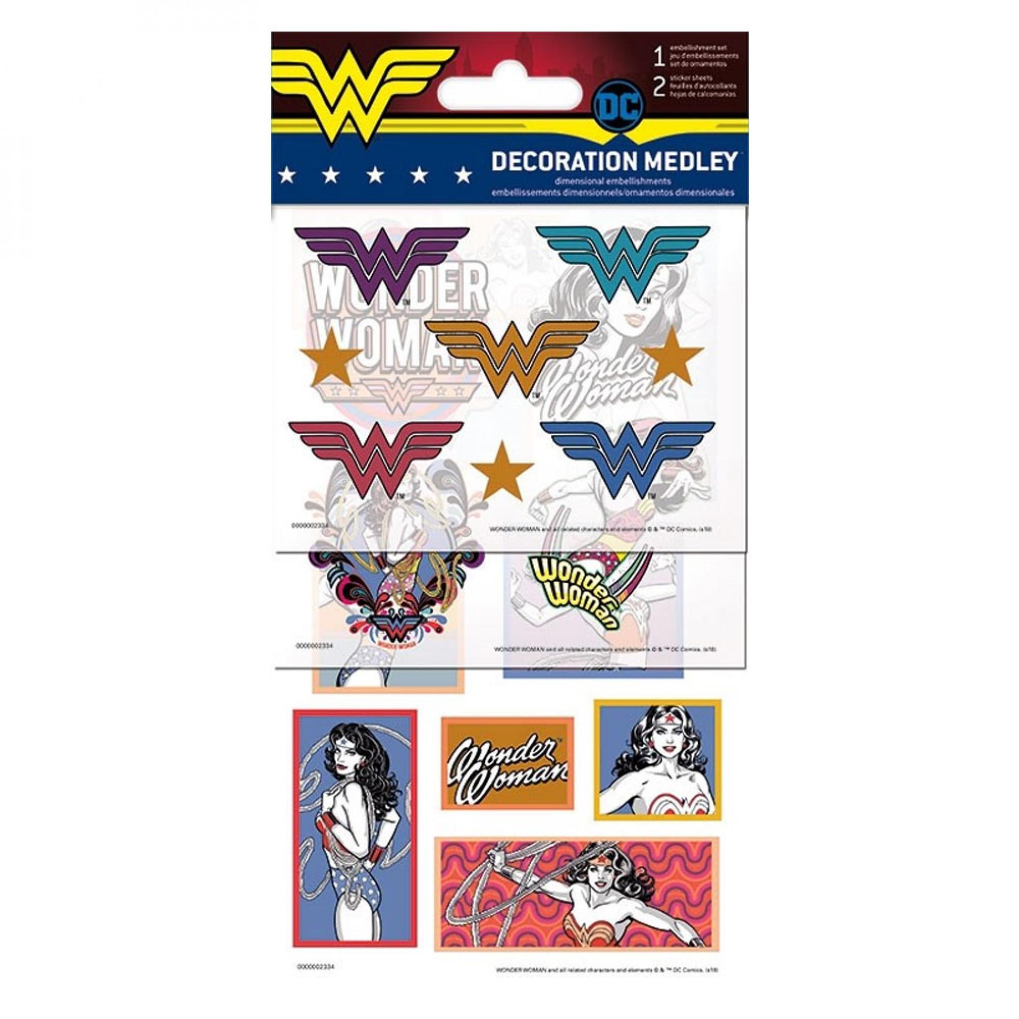 Wonder Woman Decoration Sticker Set
